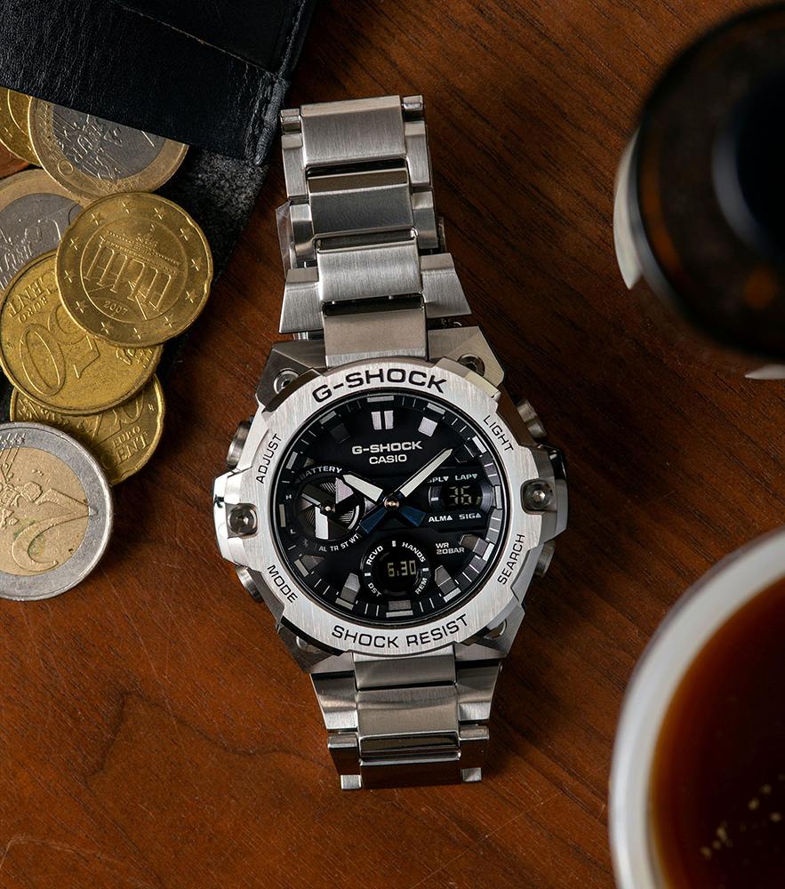 G-SHOCK GST-B400D-1AER zegarek CASIO RETRO Maxi