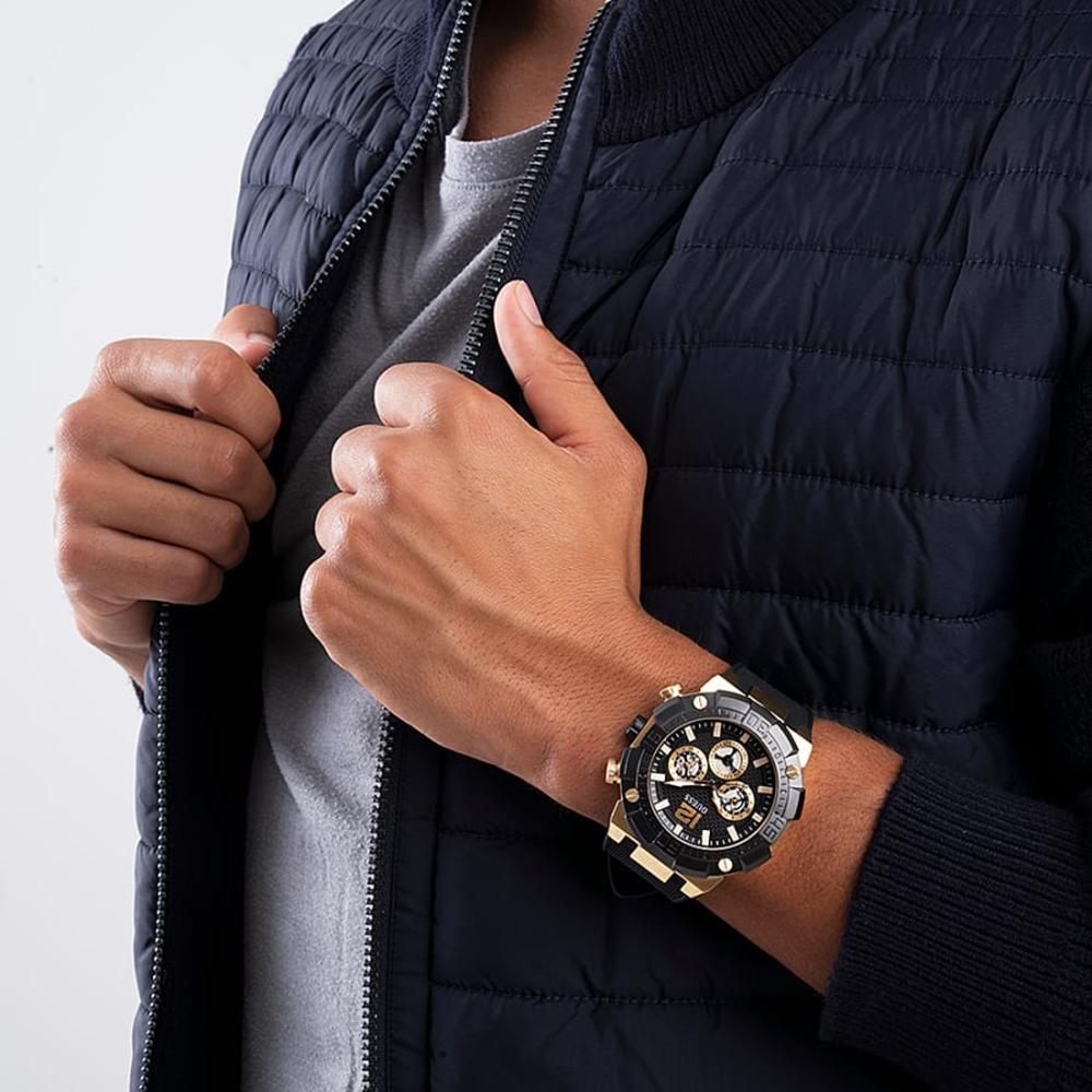 GW0264G3 zegarek srebrny sportowy Pasek pasek
