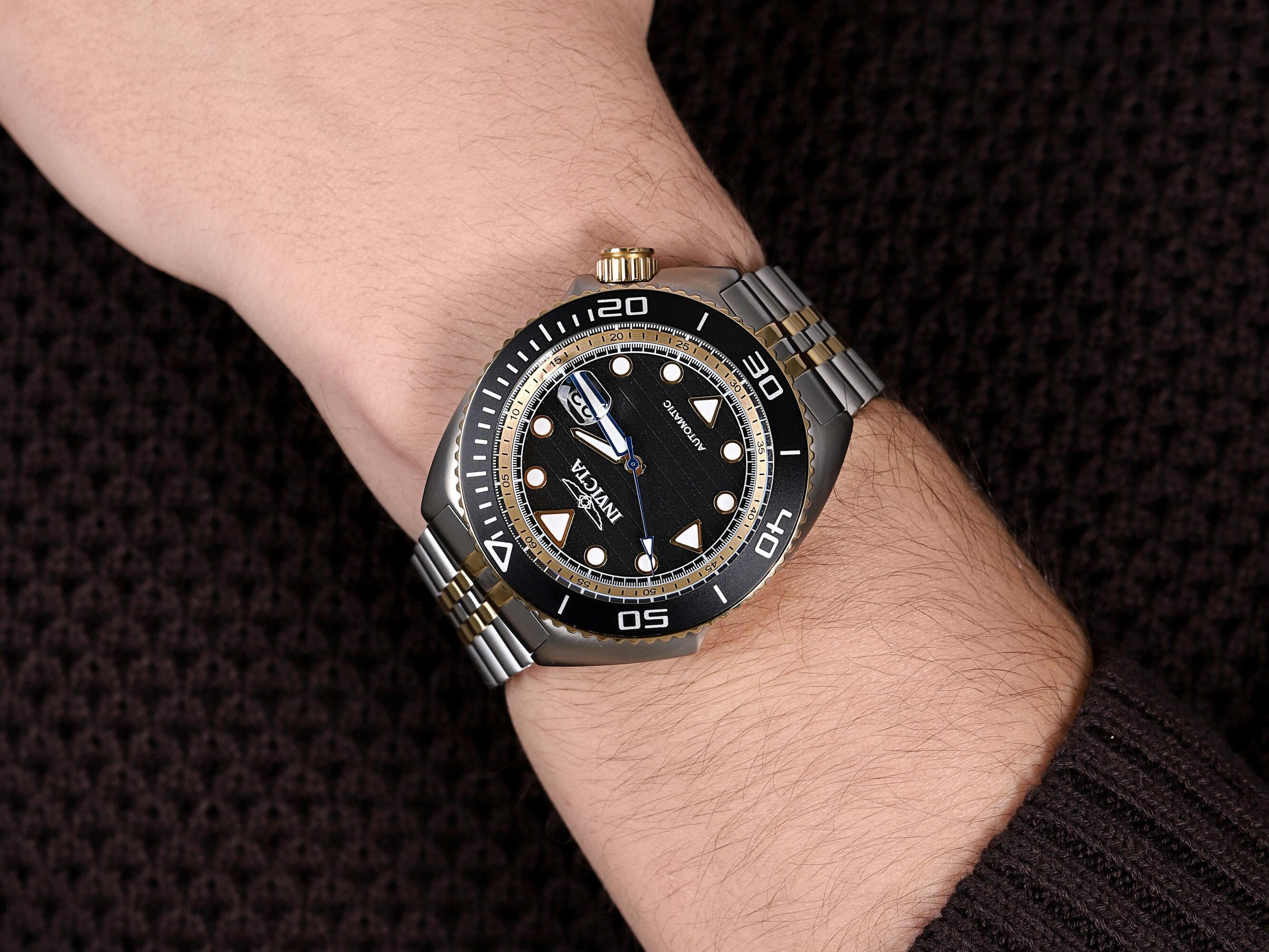 Invicta 30417 zegarek srebrny klasyczny Pro Diver bransoleta