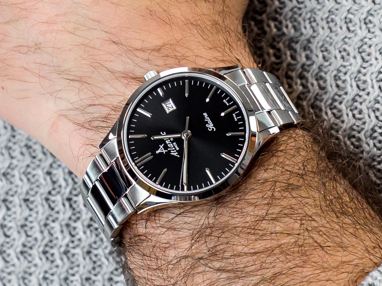zegarek Atlantic 62346.41.61 srebrny Sealine