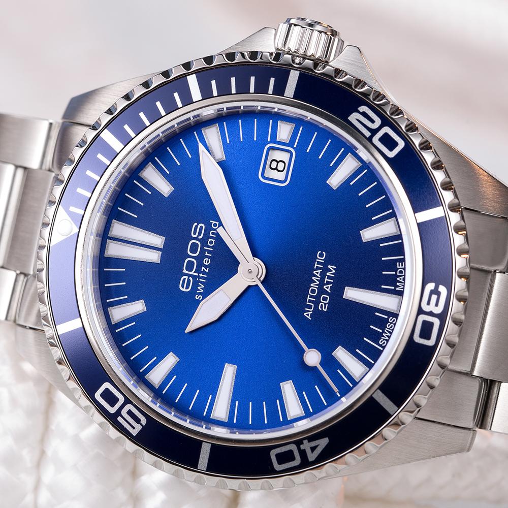 zegarek Epos 3413.131.96.16.30 automatyczny męski Sportive Sportive Diver