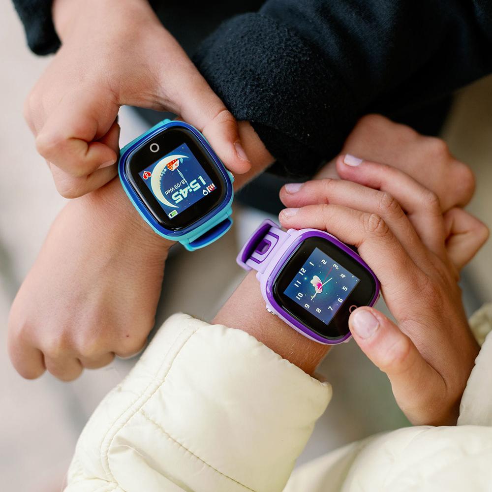 Garett 5903246280555 Smartwatch Garett Kids Happy Niebieski zegarek sportowy Dla dzieci