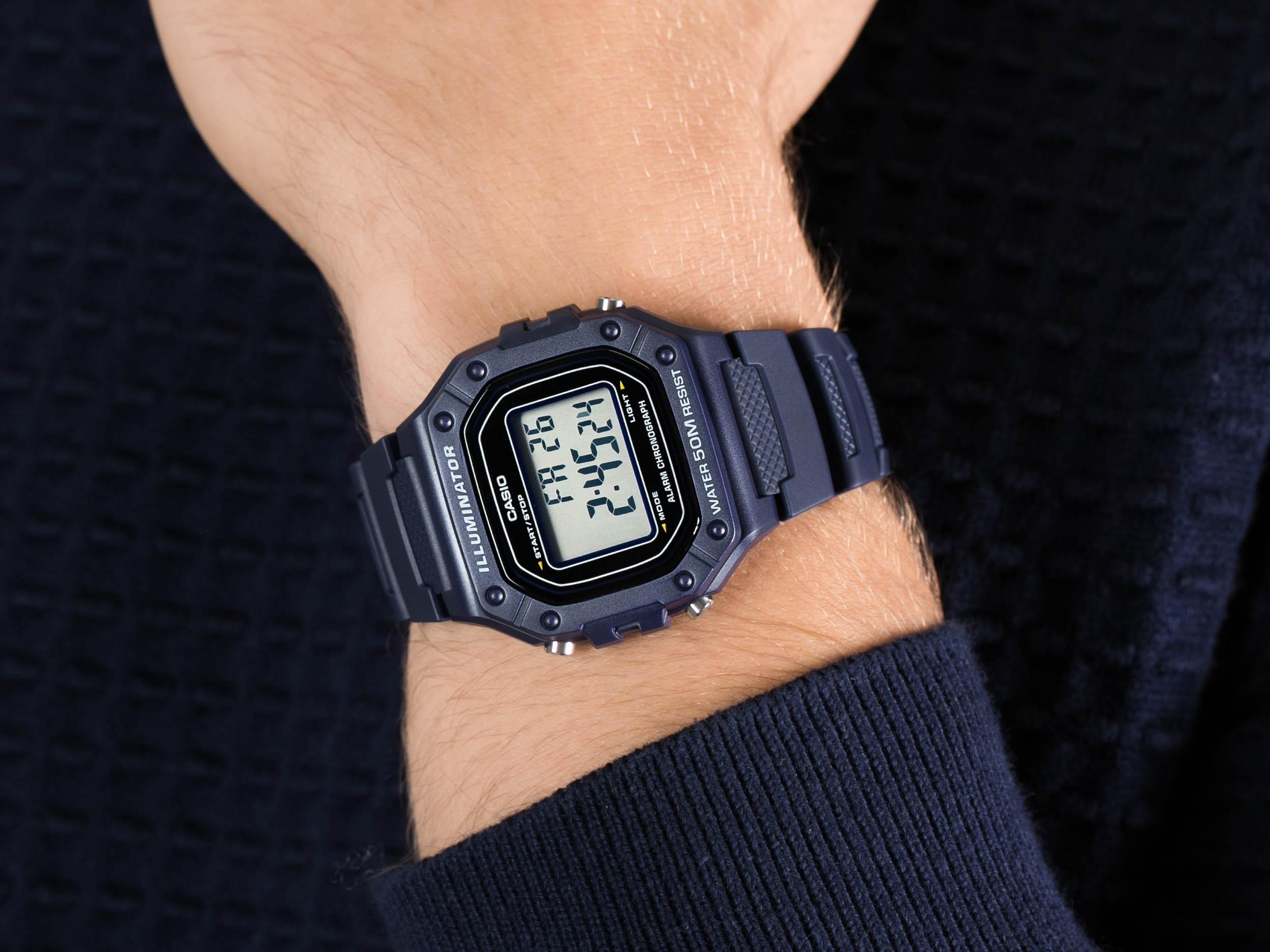 Casio W-218H-2AVEF HEAVY DUTY zegarek sportowy Sportowe