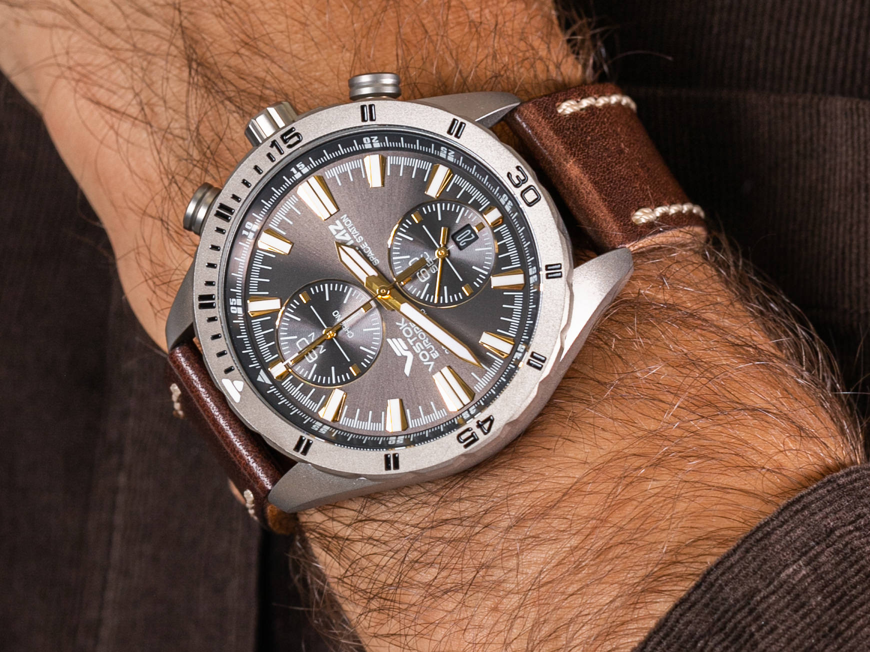 Vostok Europe 6S11-320H521 Almaz Titan zegarek klasyczny Almaz