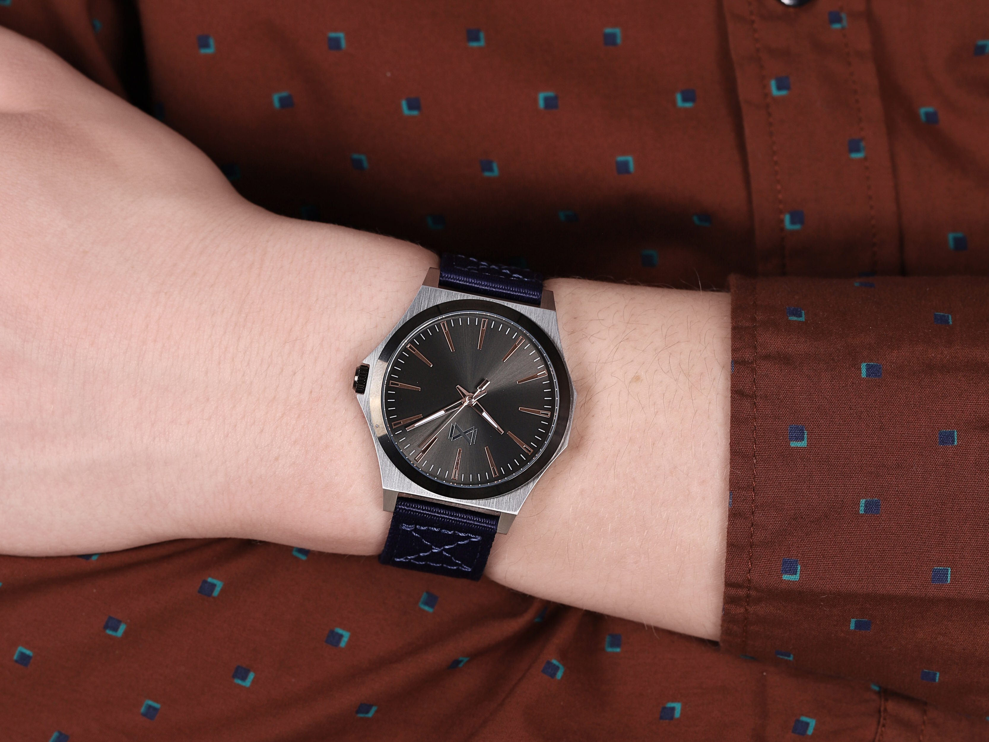 Mark Maddox HC7103-57 męski zegarek Marina pasek