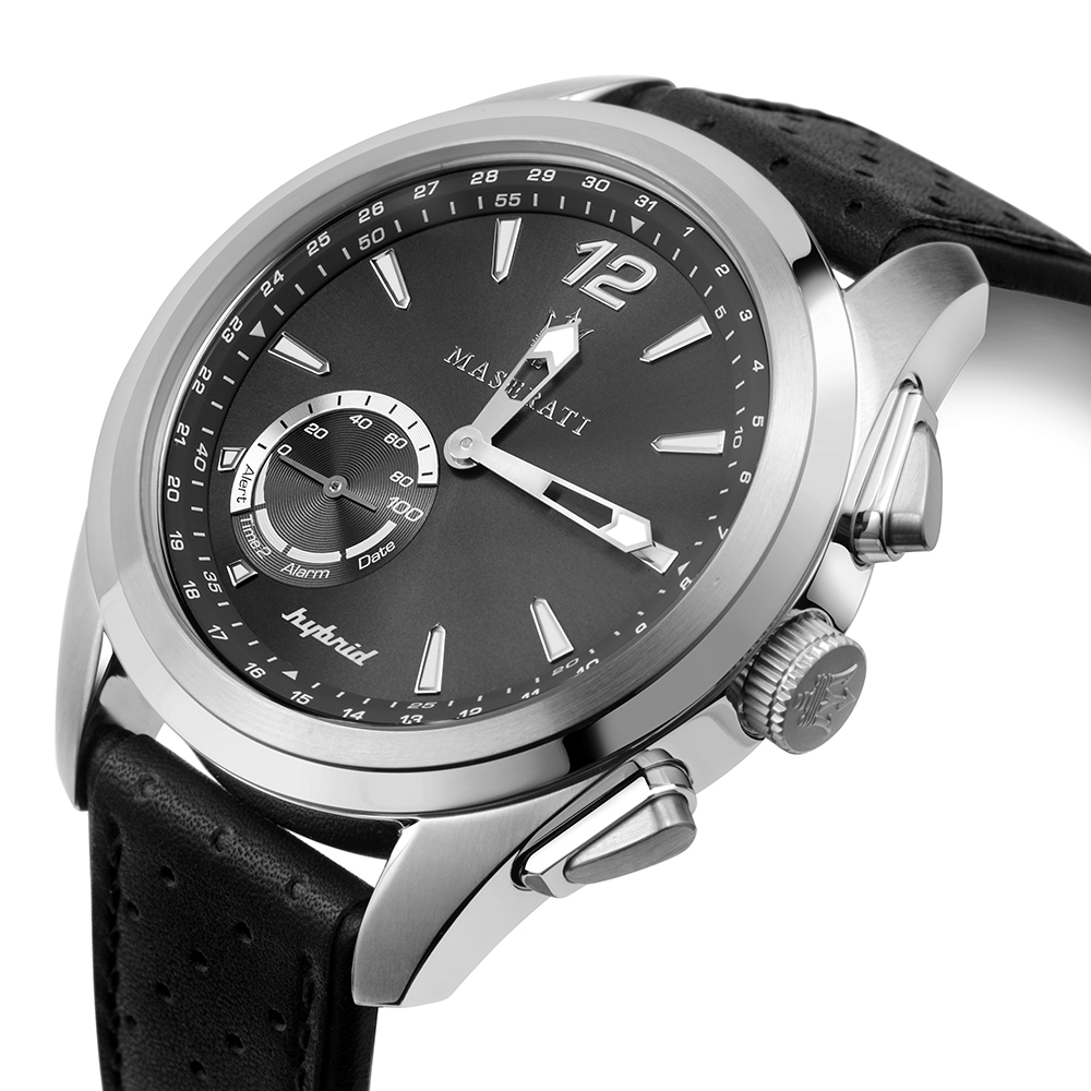 Maserati R8851112001 smartwatch srebrny klasyczny Traguardo pasek