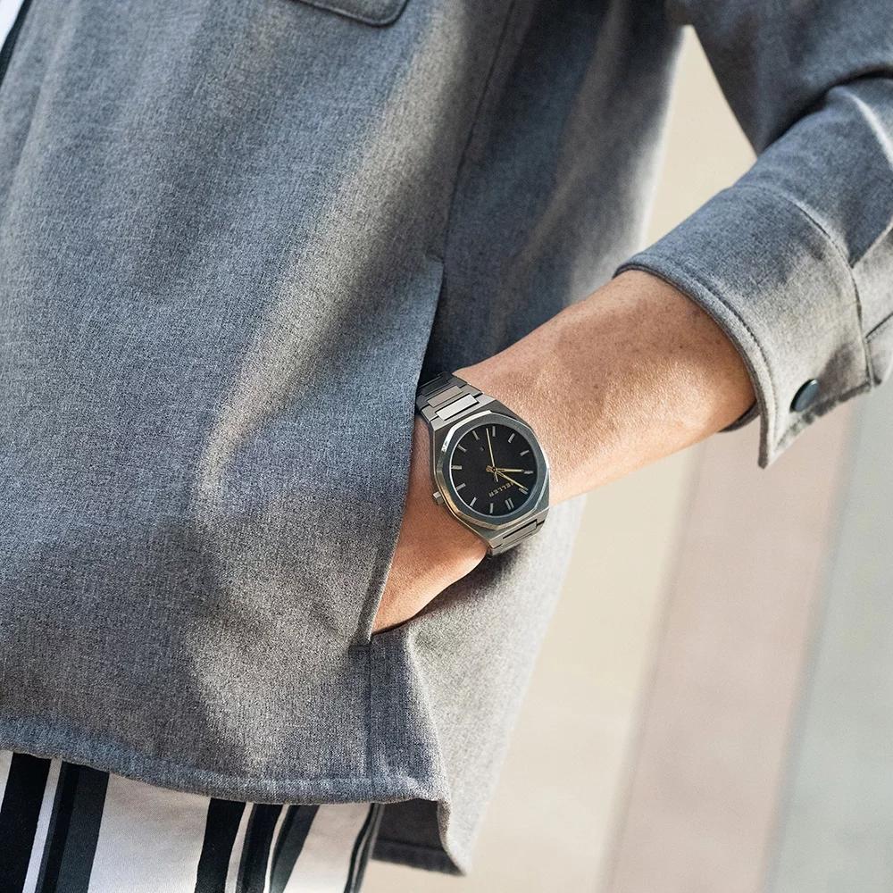Meller Grey8GG-3.2GREY Daren zegarek męski klasyczny mineralne z powłoką szafirową