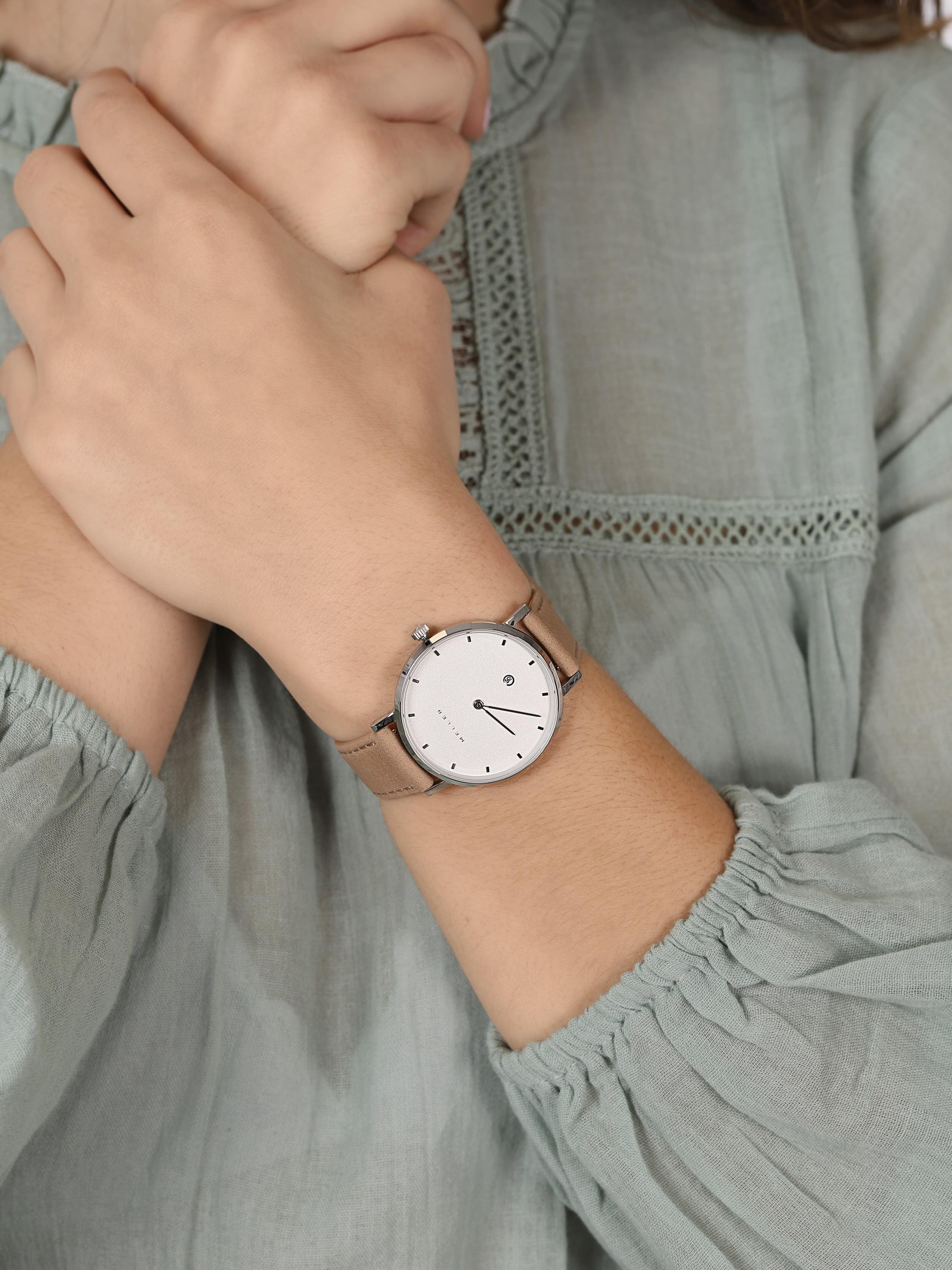 Meller W1B-1SAND Astar Astar Dag Sand zegarek damski klasyczny mineralne z powłoką szafirową
