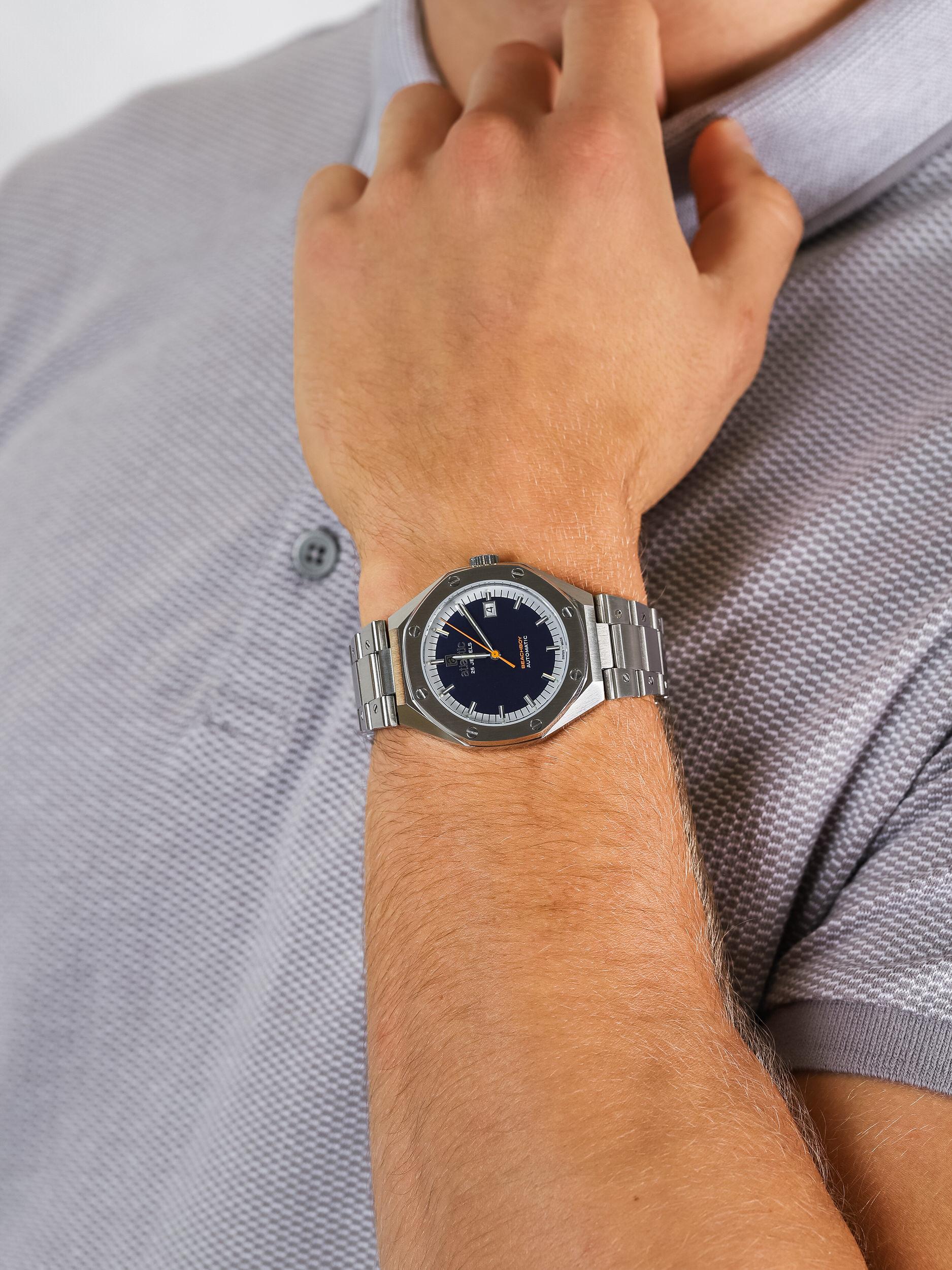Atlantic 58765.41.51 męski zegarek Beachboy bransoleta