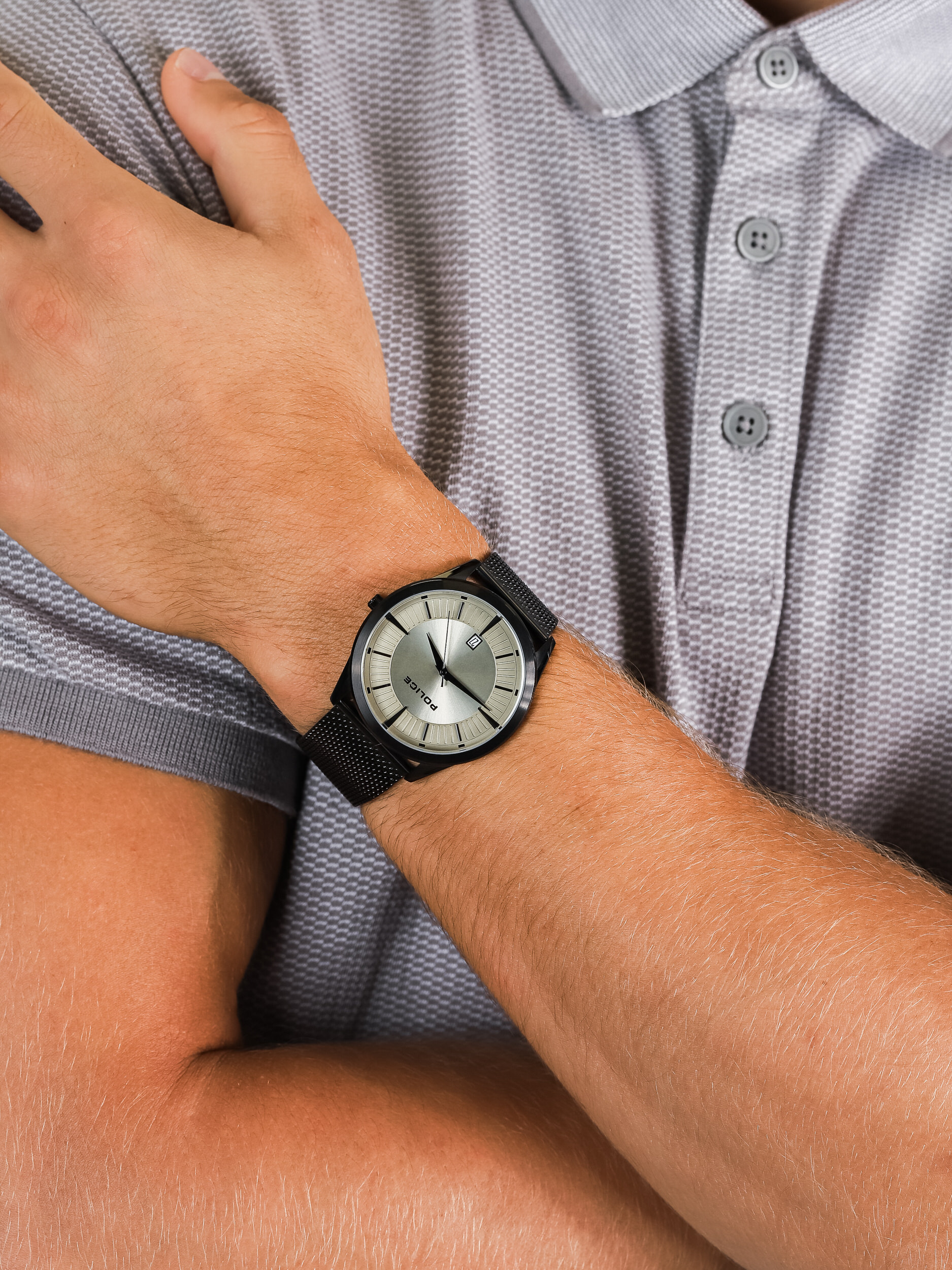 Police PL.15305JSB-79MM męski zegarek Bransoleta bransoleta