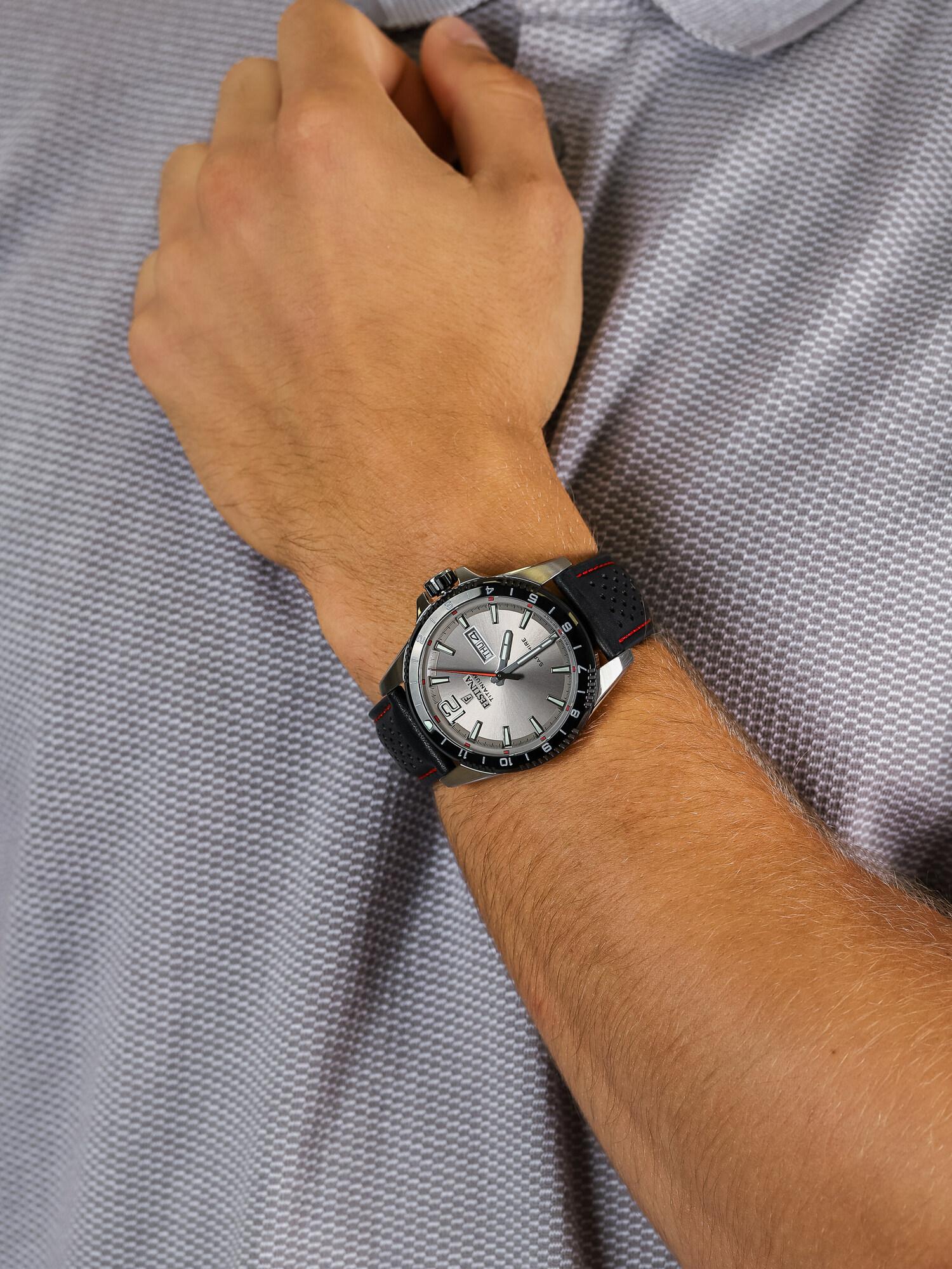 Festina F20530-3 męski zegarek Titanium pasek