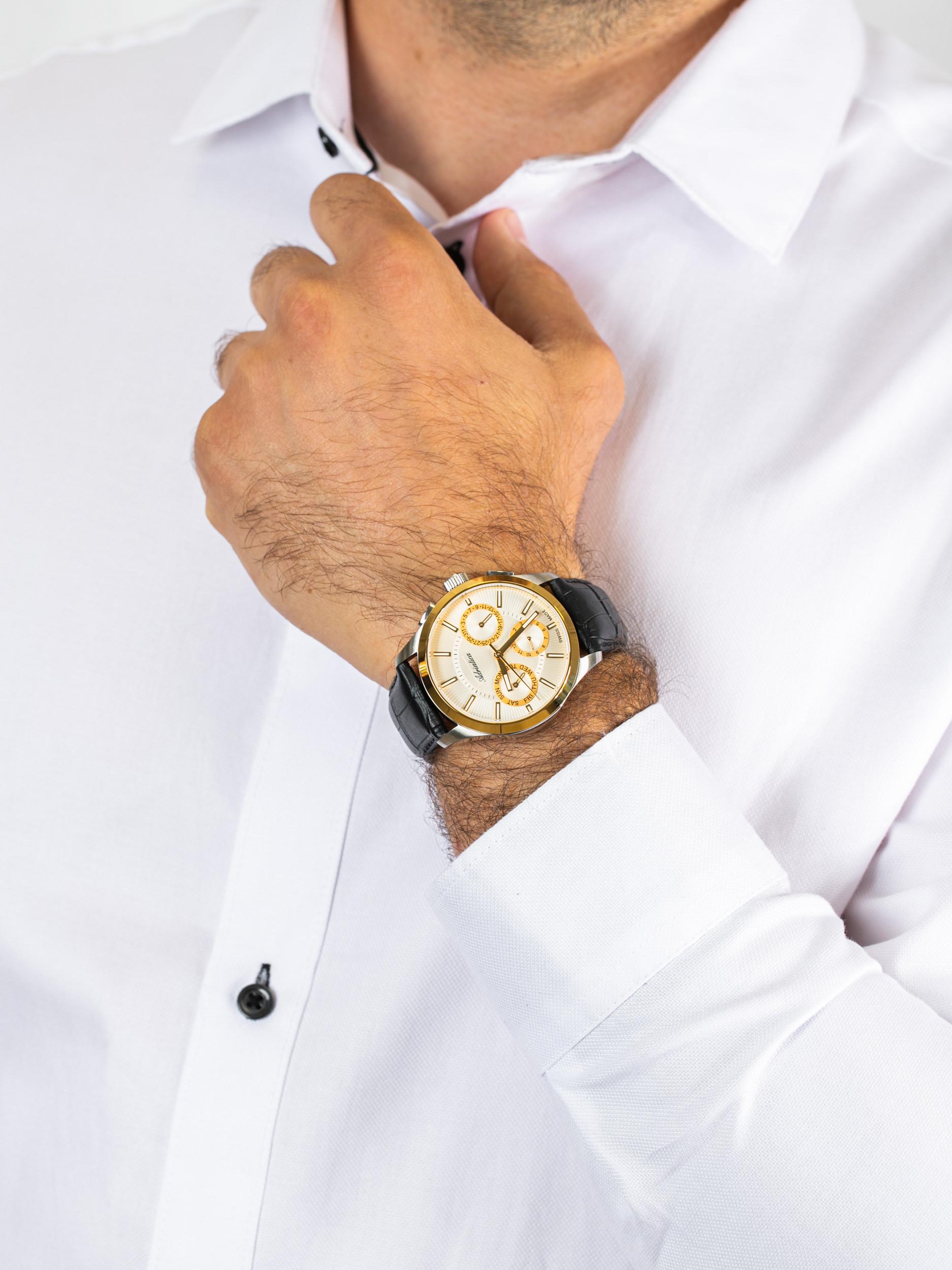 Adriatica A8255.2213QF męski zegarek Pasek pasek