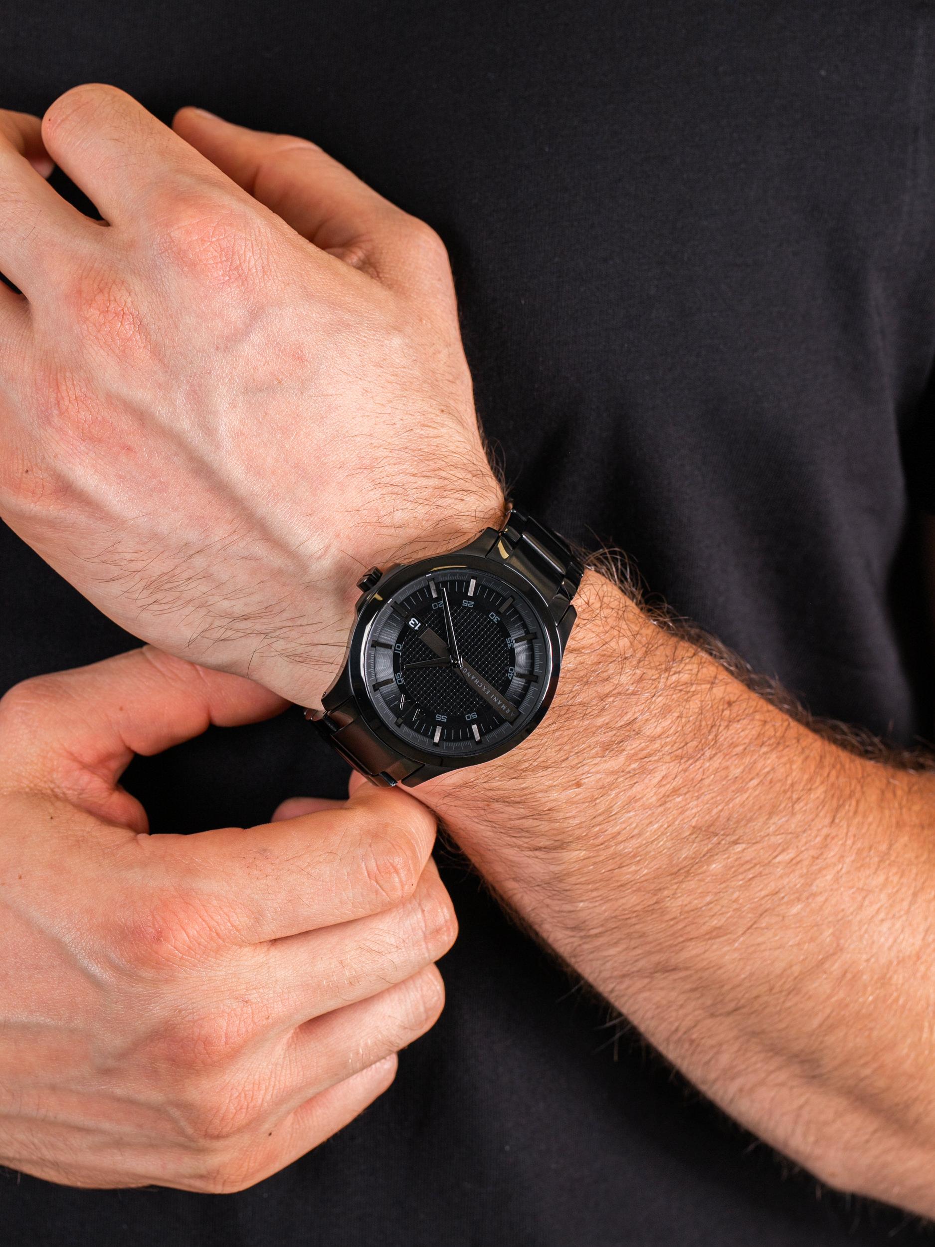 Armani Exchange AX2104 męski zegarek Fashion bransoleta