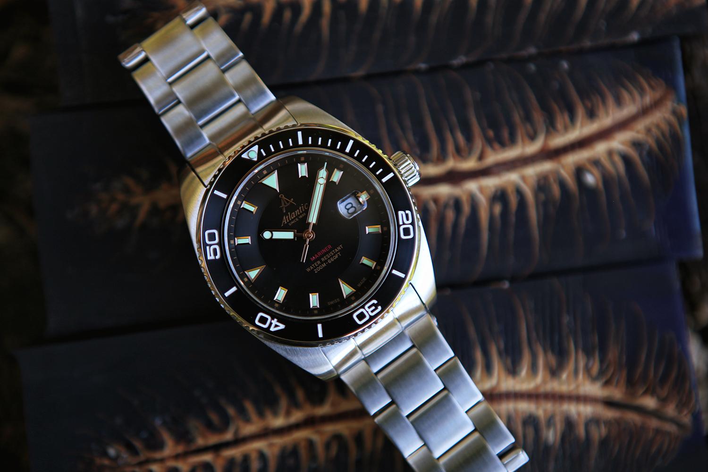 Atlantic 80377.41.61R zegarek srebrny klasyczny Mariner bransoleta