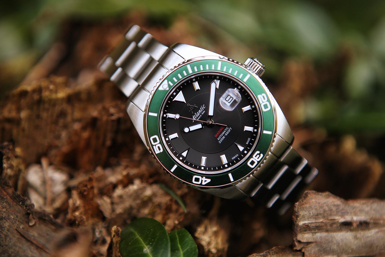 Atlantic 80779.41.61 zegarek srebrny klasyczny Mariner bransoleta