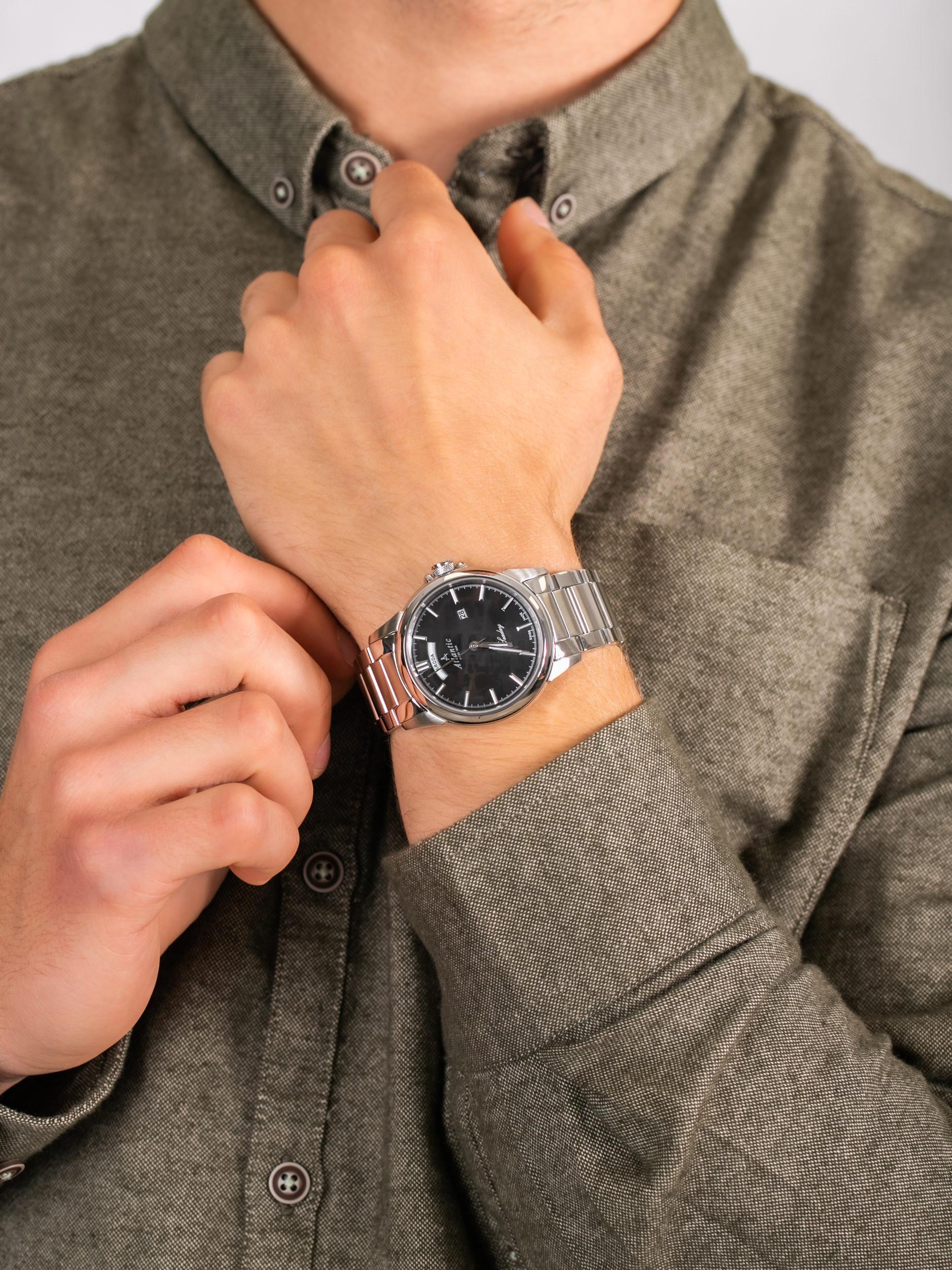 Atlantic 69555.41.61P męski zegarek Seaday bransoleta