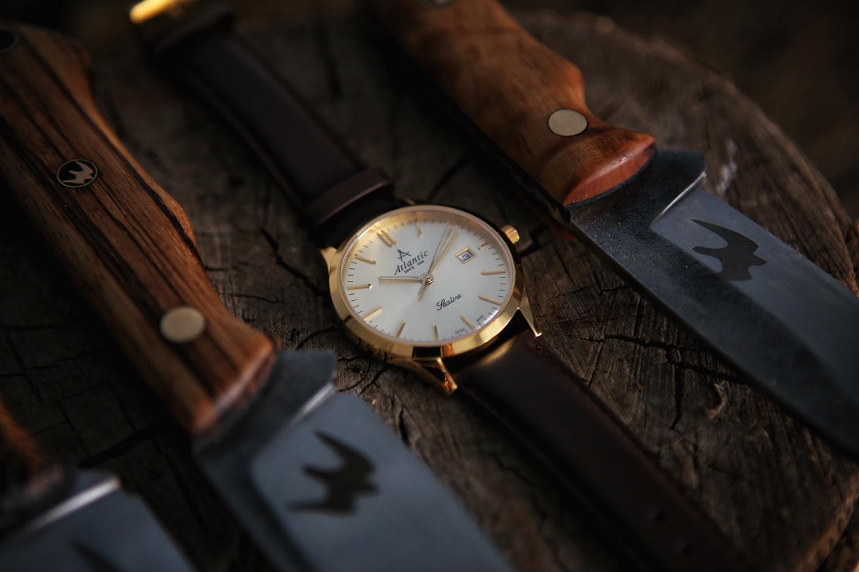 Atlantic 62341.45.31 zegarek złoty klasyczny Sealine pasek