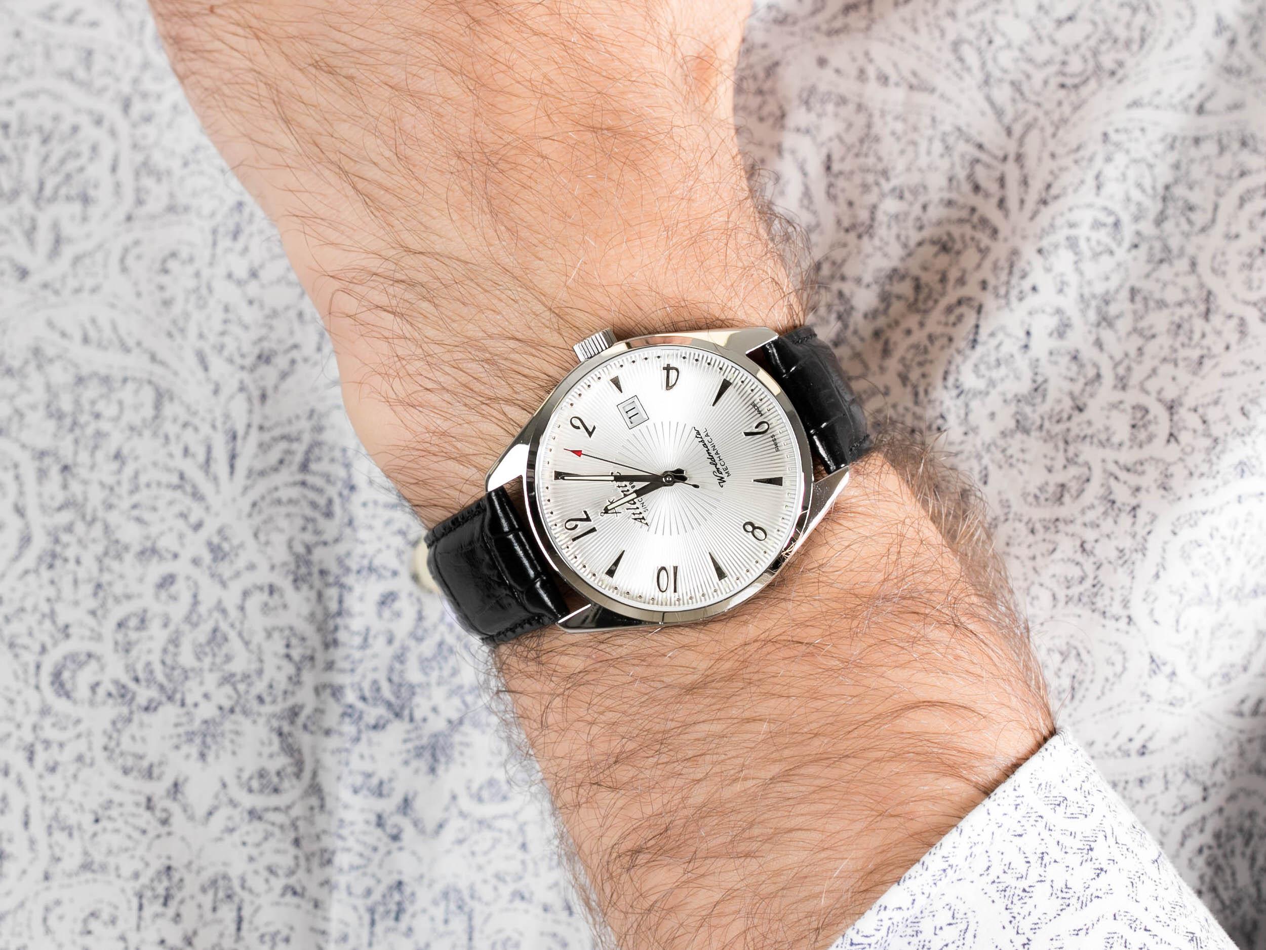 Atlantic 51651.41.25S Worldmaster Mechanical zegarek klasyczny Worldmaster
