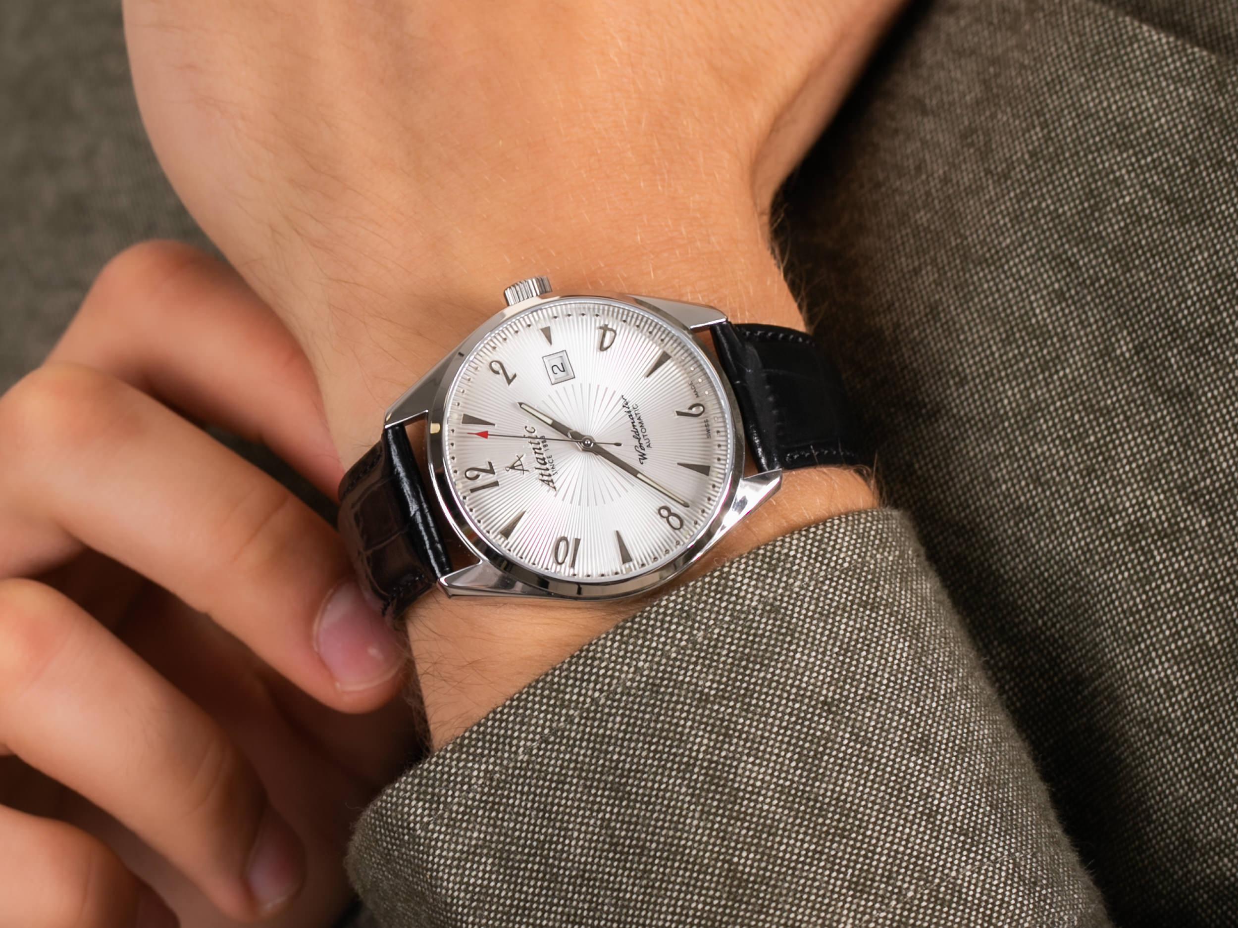 Atlantic 51752.41.25S Worldmaster Automatic zegarek klasyczny Worldmaster
