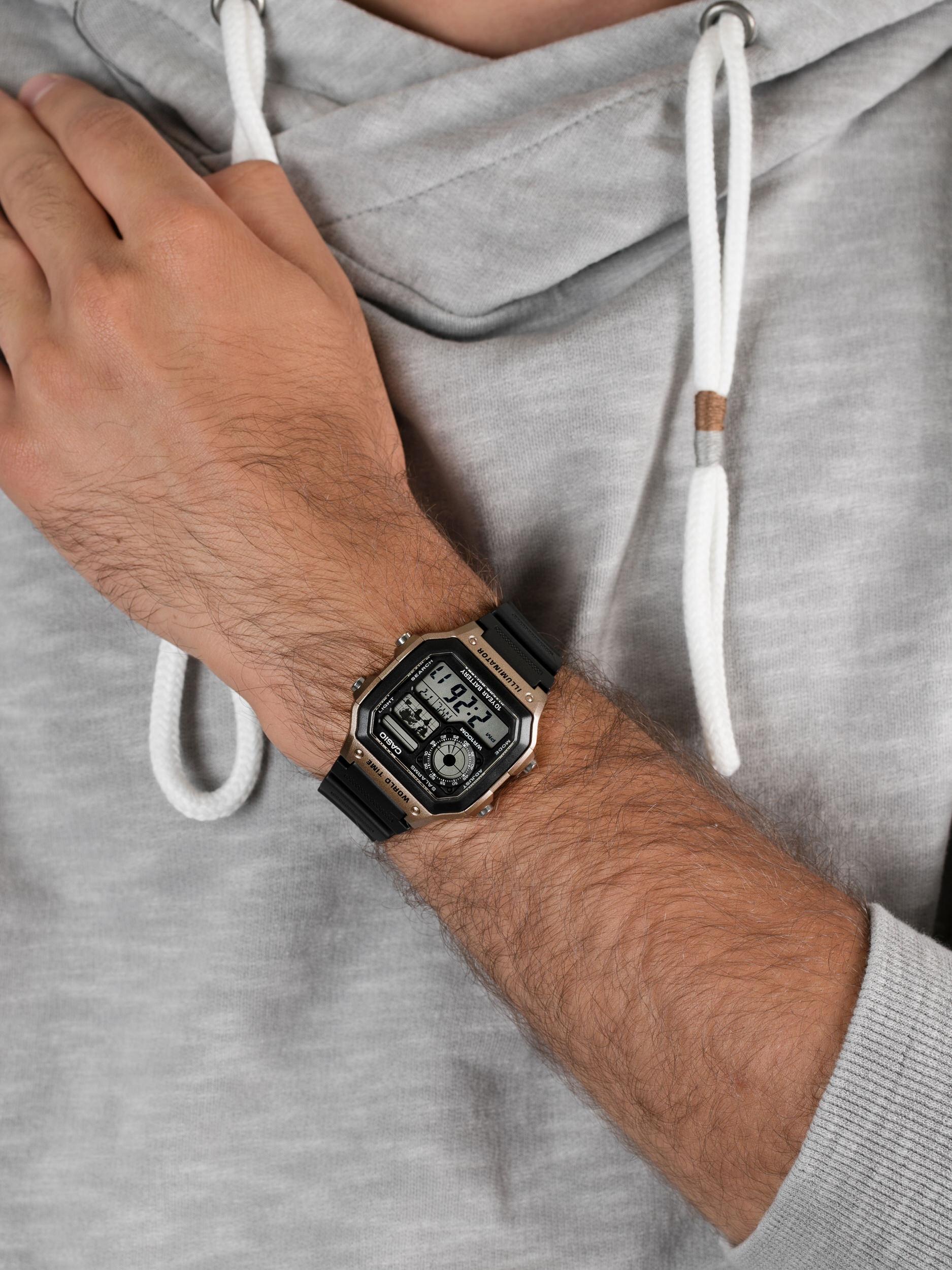 Casio AE-1200WH-5AVEF męski zegarek Sportowe pasek