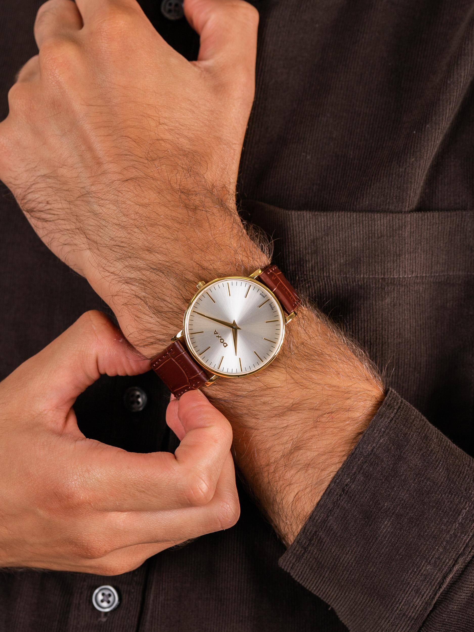 Doxa 173.30.021.02 męski zegarek D-Light pasek