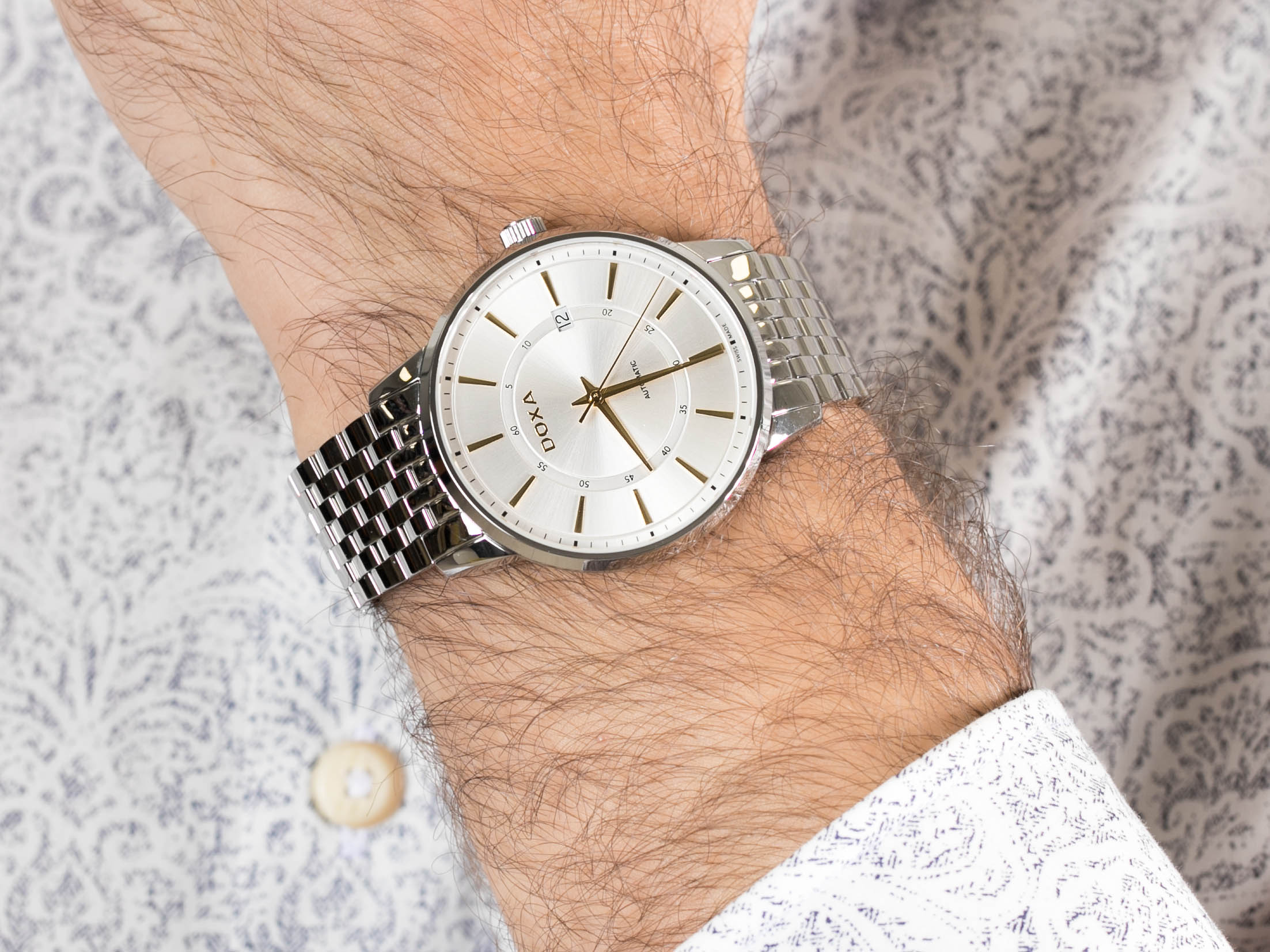 Doxa 107.10.021Y.10 zegarek klasyczny Slim Line
