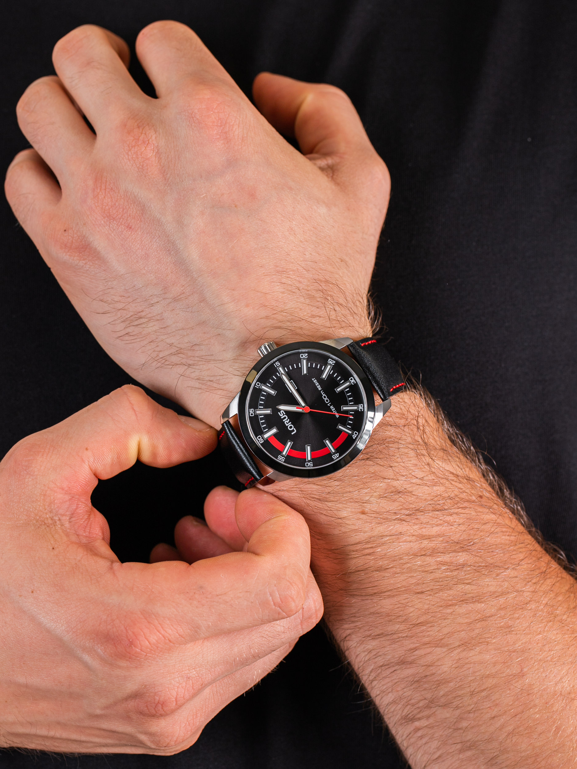 Lorus RH951JX9 męski zegarek Klasyczne pasek