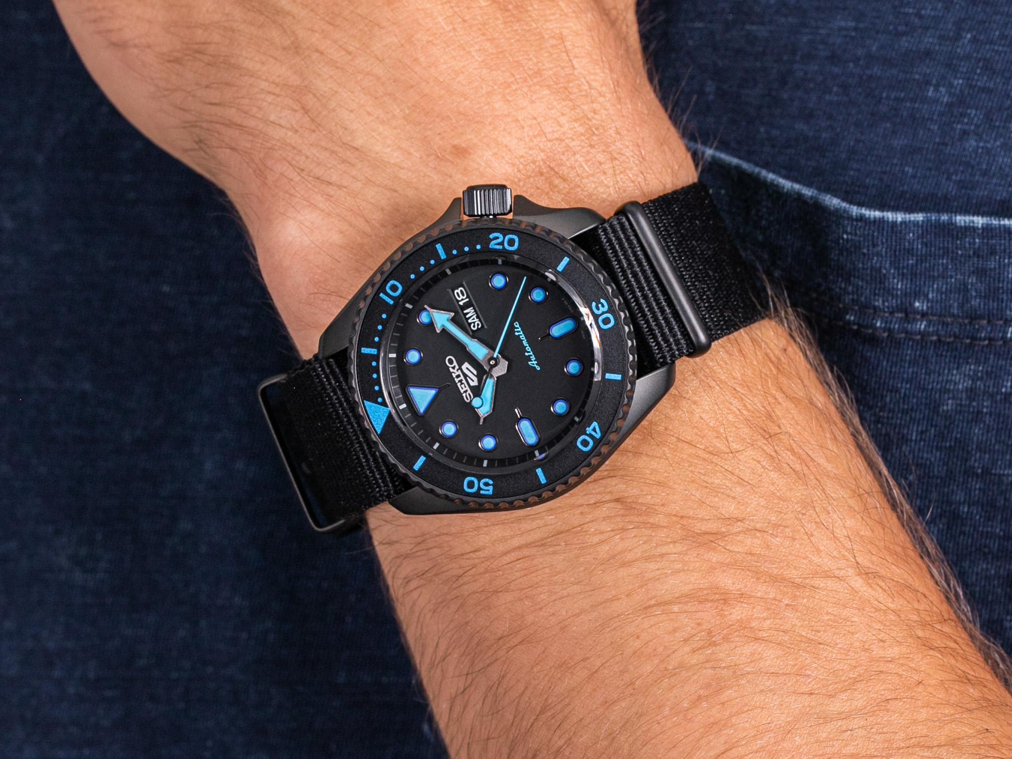 Seiko SRPD81K1 5 Sports Automatic zegarek sportowy Sports Automat