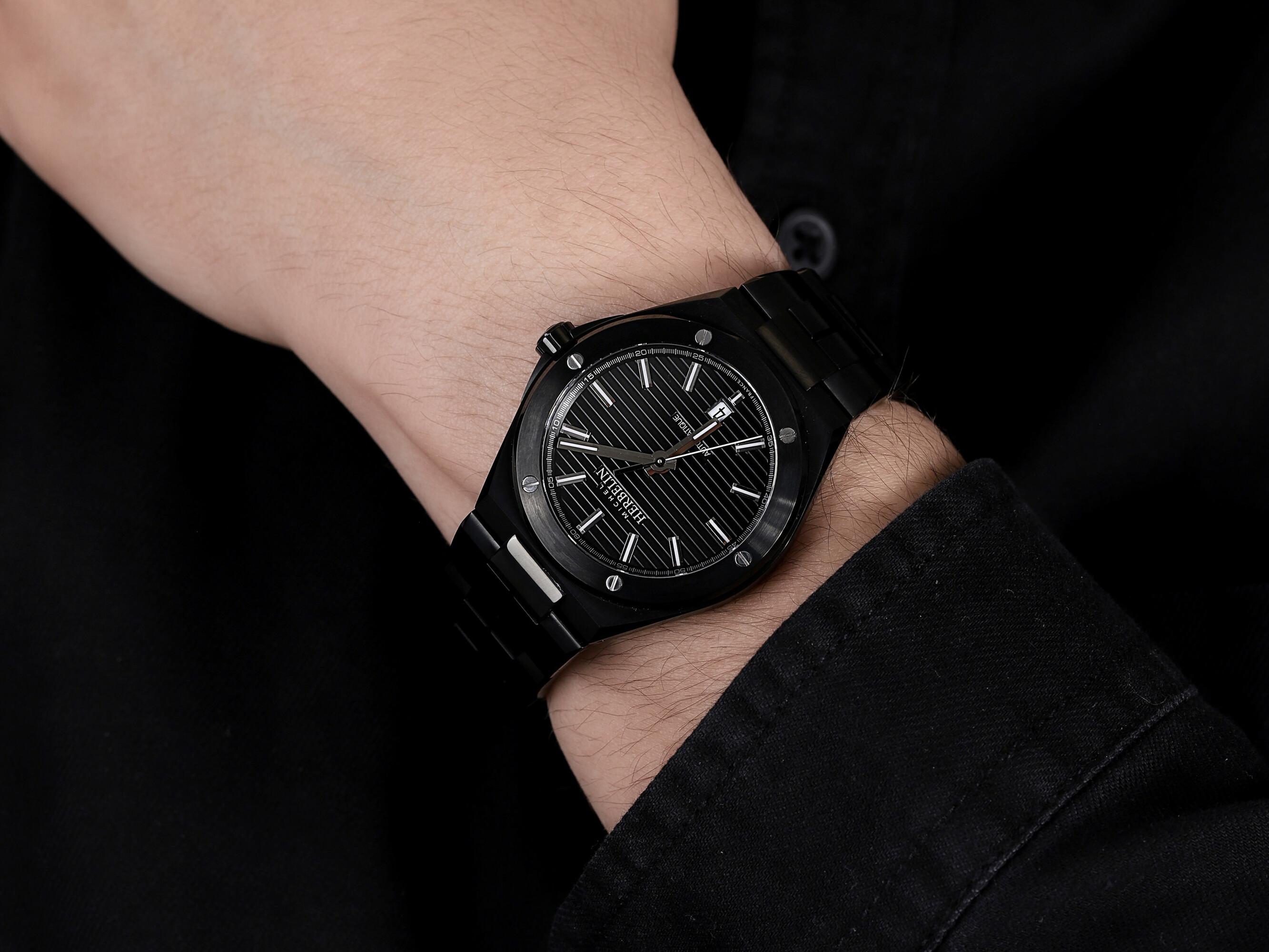 Michel Herbelin 1645/BN14 zegarek czarny klasyczny Cap Camarat bransoleta