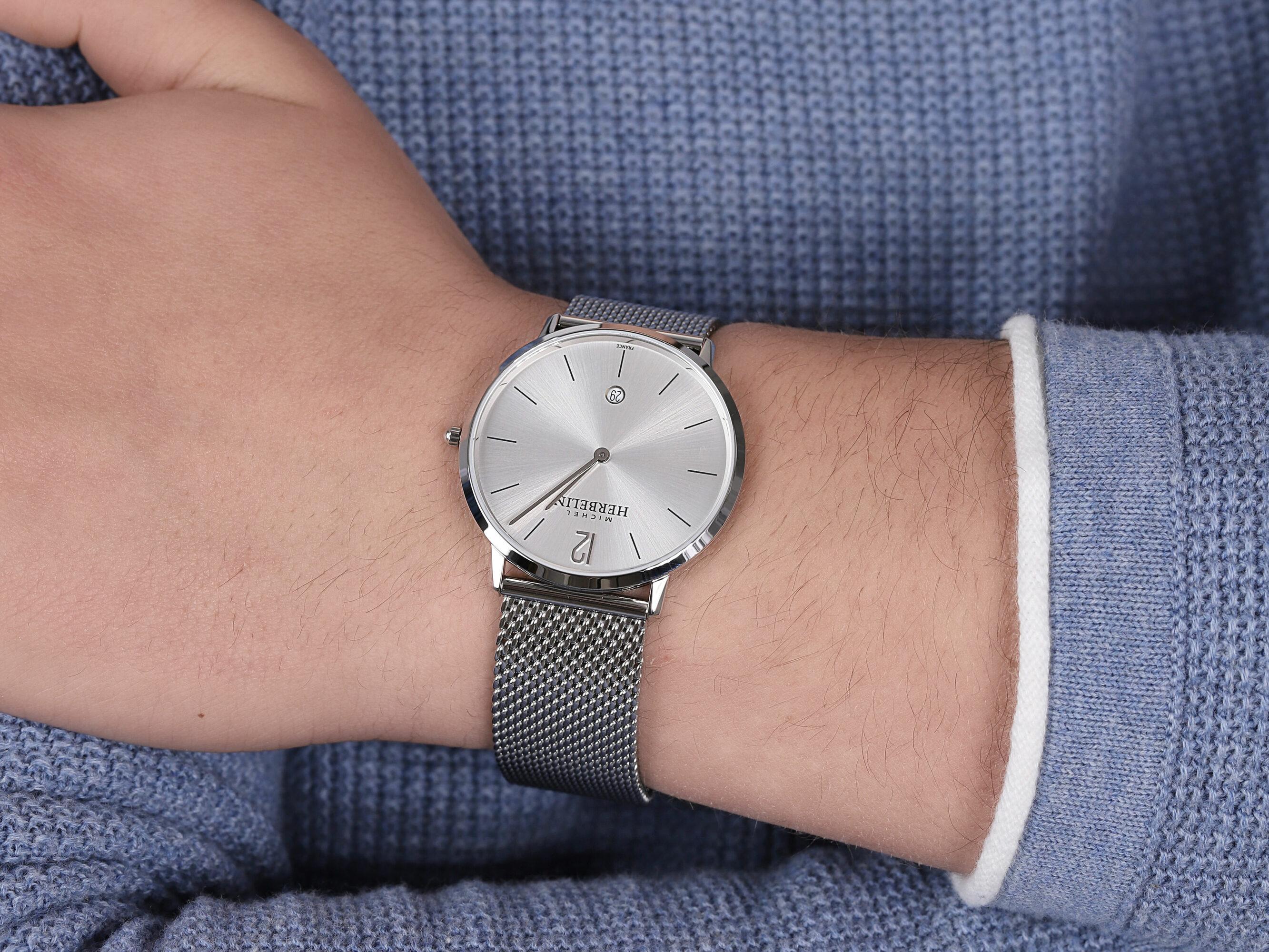 Michel Herbelin 19515/11B zegarek srebrny klasyczny City bransoleta