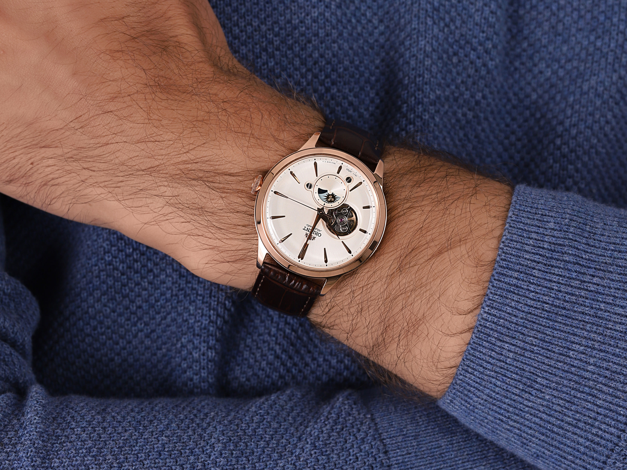 Orient RA-AS0102S10B The Sun  Moon zegarek klasyczny Classic