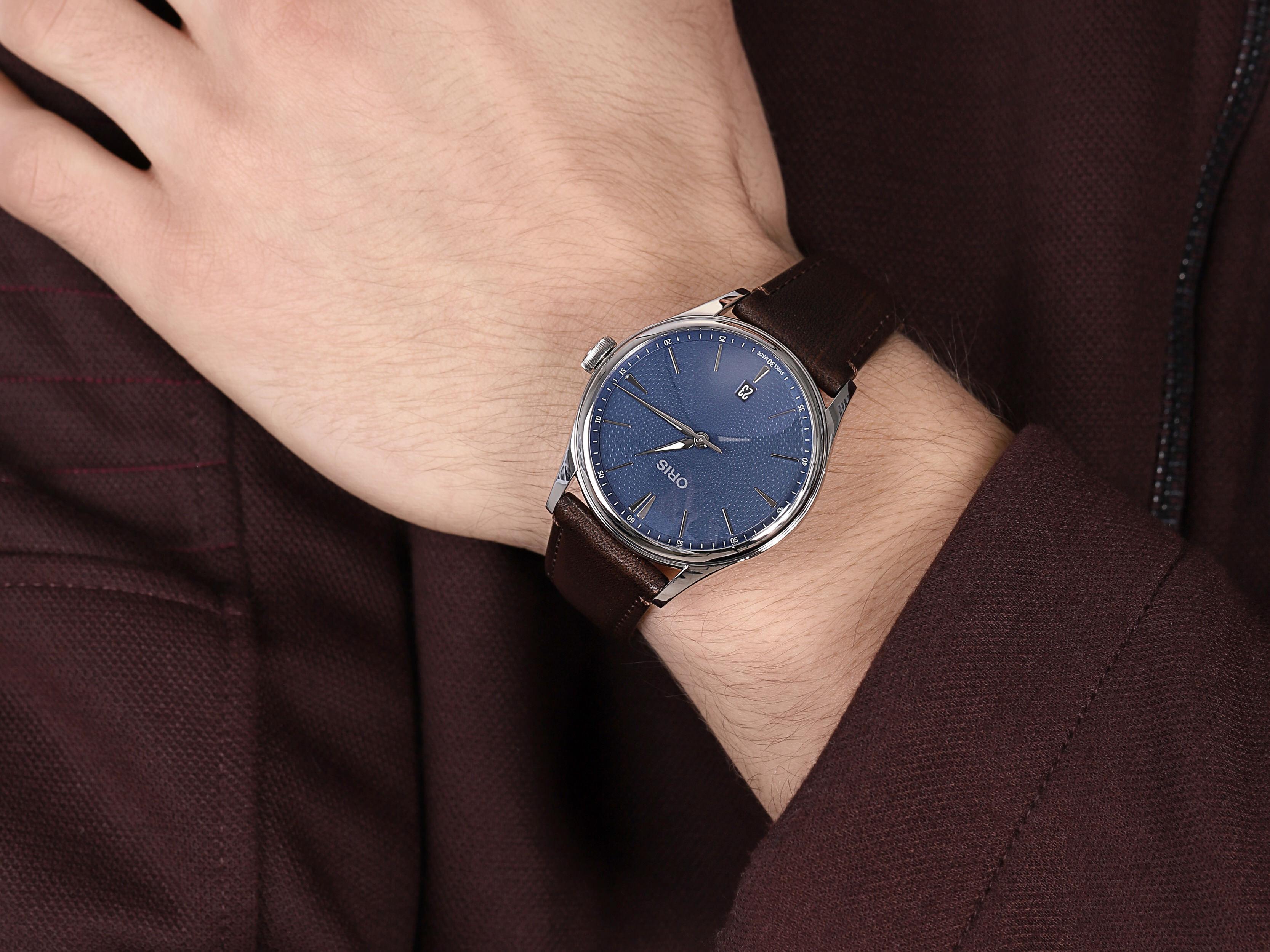 Oris 01 733 7721 4055-07 5 21 31FC męski zegarek Artelier pasek