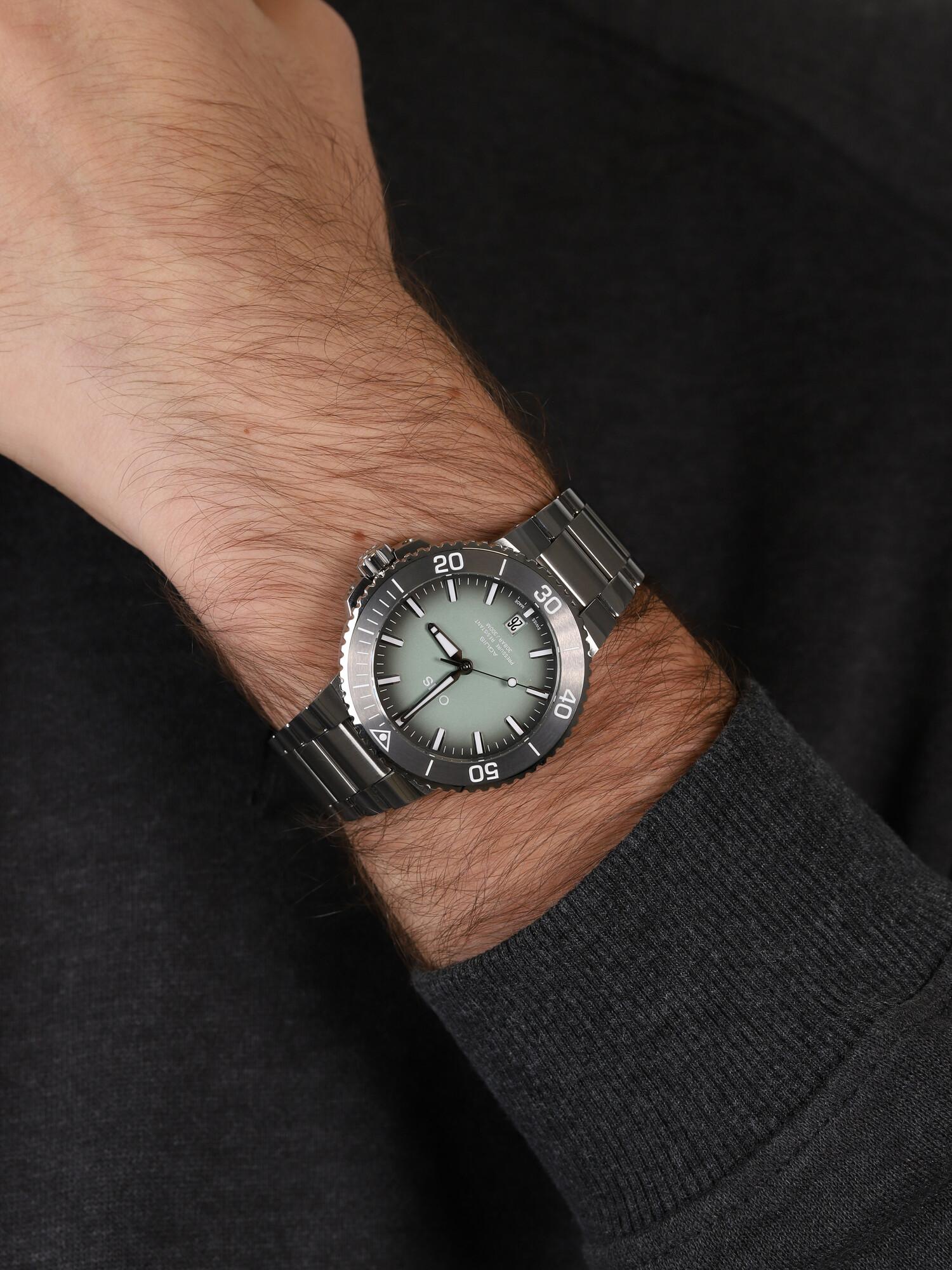 Oris 01 733 7732 4137-07 8 21 05PEB męski zegarek Aquis bransoleta