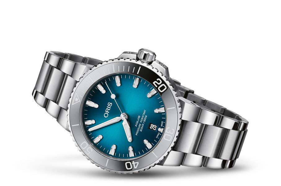 Oris 01 733 7732 4155-07 8 21 05PEB zegarek srebrny klasyczny Aquis bransoleta