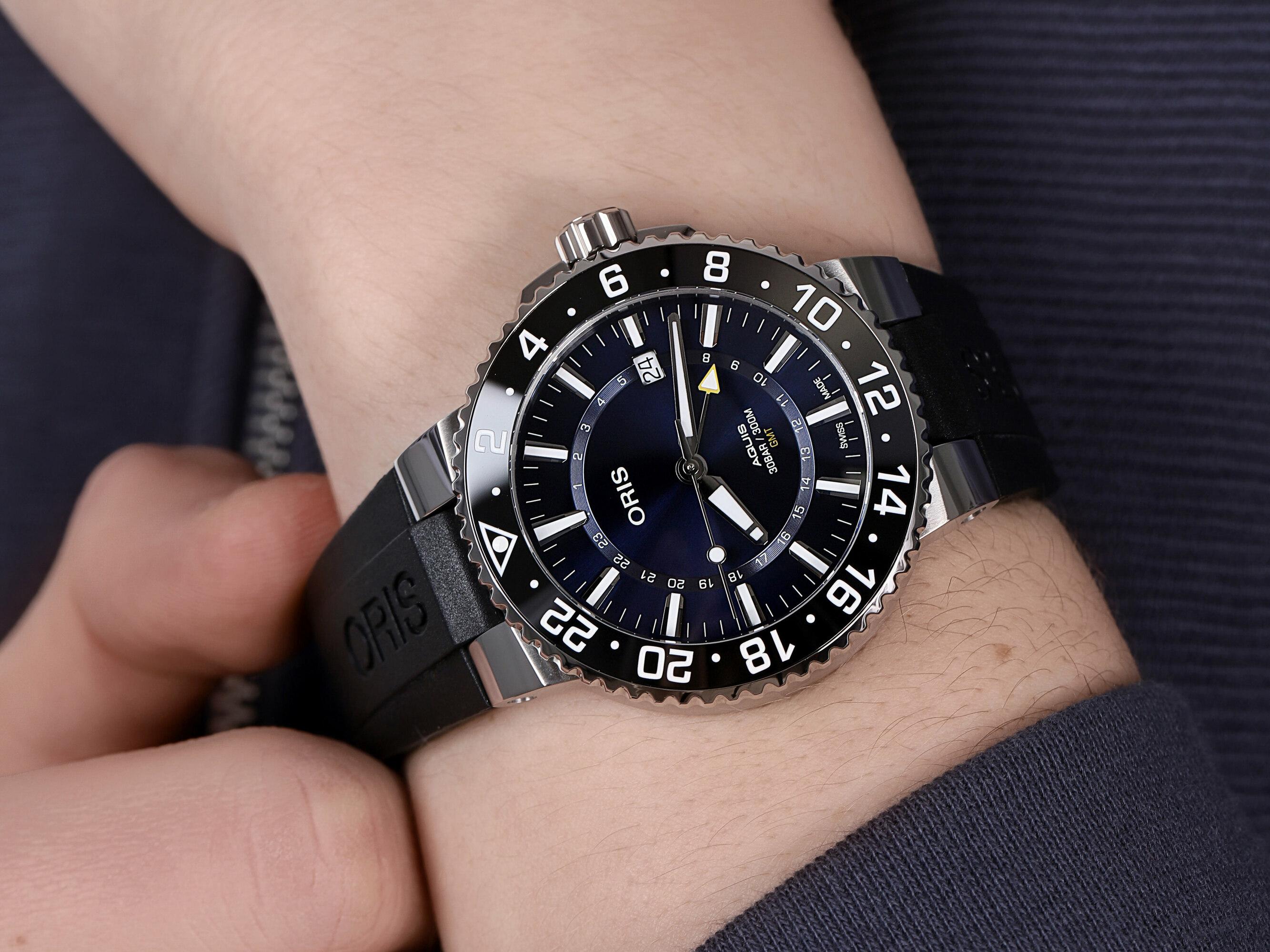 Oris 01 798 7754 4135-07 4 24 64EB męski zegarek Aquis pasek