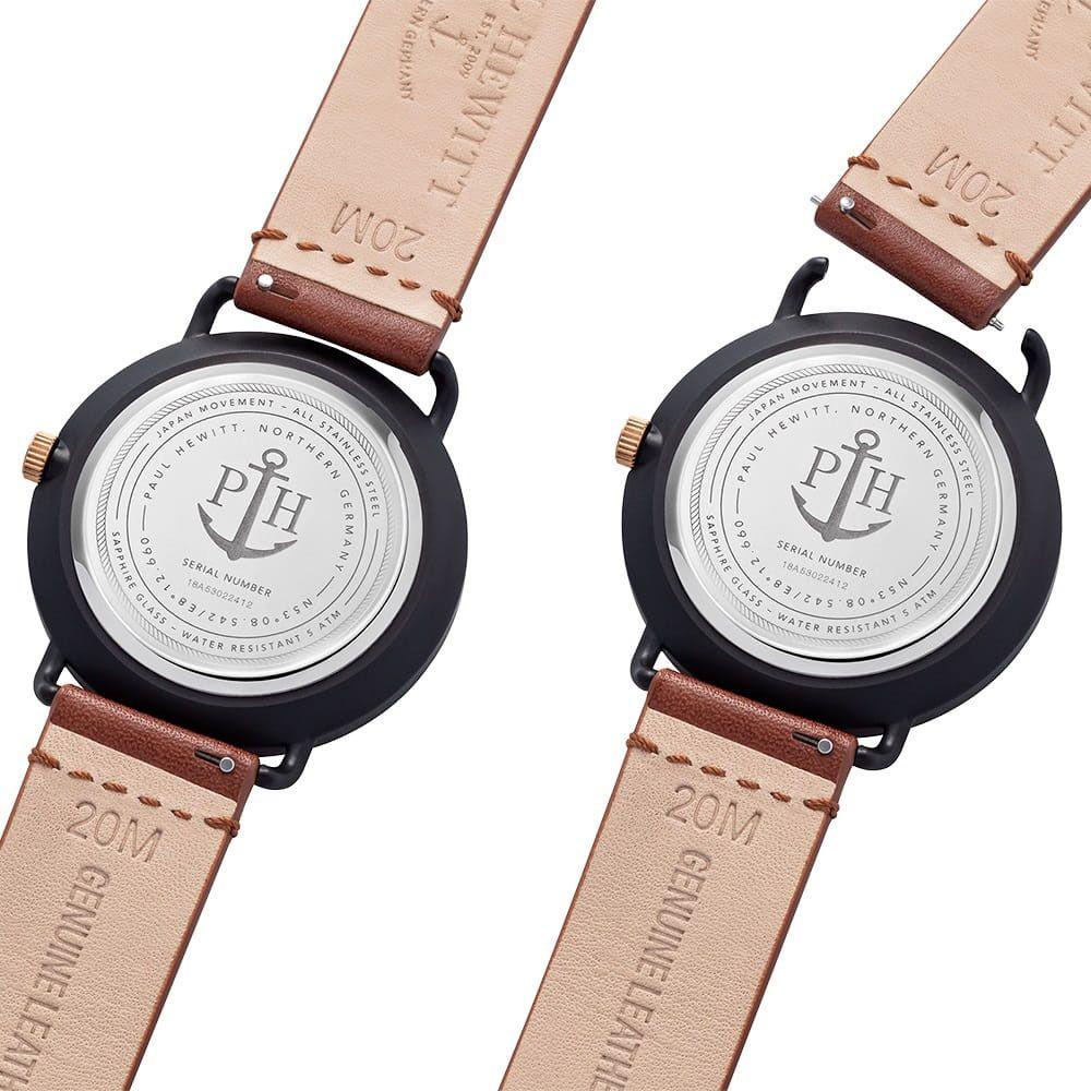 Paul Hewitt PH-BW-BBR-BS-57M męski zegarek Grand Atlantic bransoleta