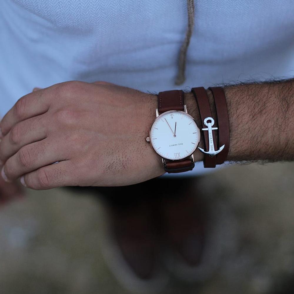 Paul Hewitt PH-SA-S-ST-W-1M zegarek srebrny klasyczny Sailor Line bransoleta