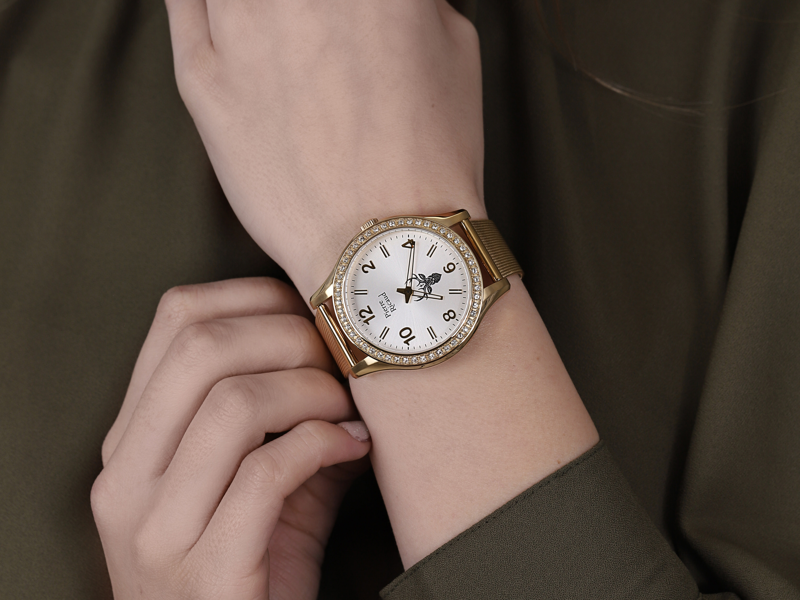 Pierre Ricaud P21068.1153QZRE damski zegarek Bransoleta bransoleta