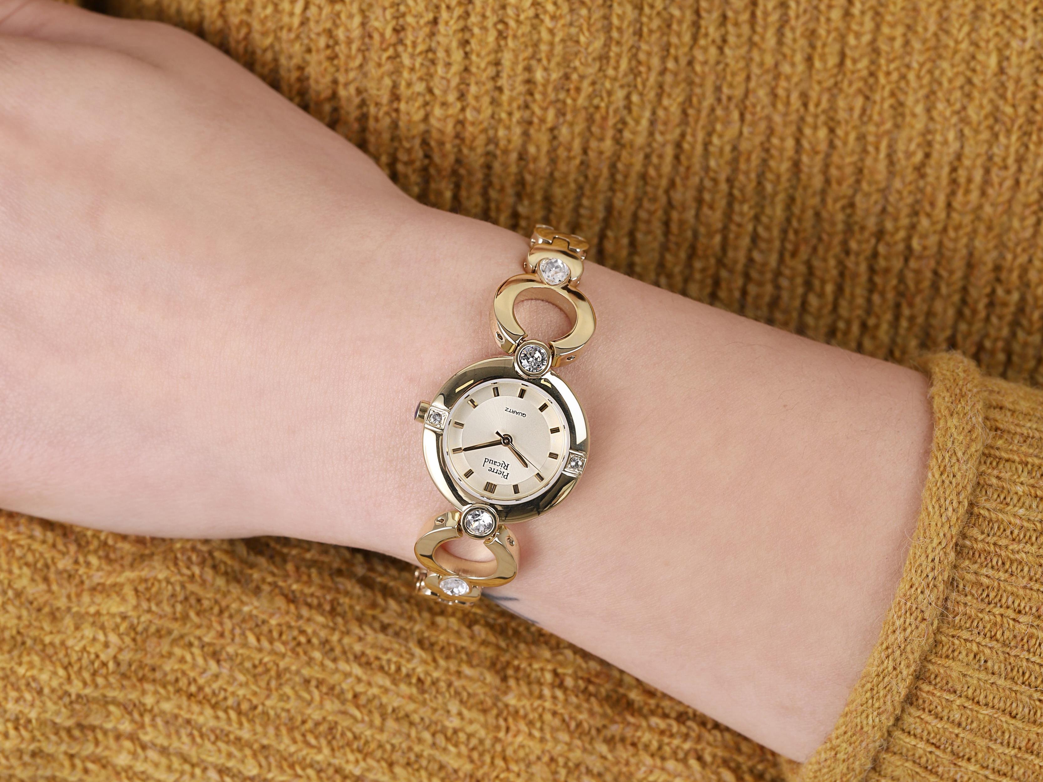 Pierre Ricaud P21070.1111QZ zegarek złoty klasyczny Bransoleta bransoleta