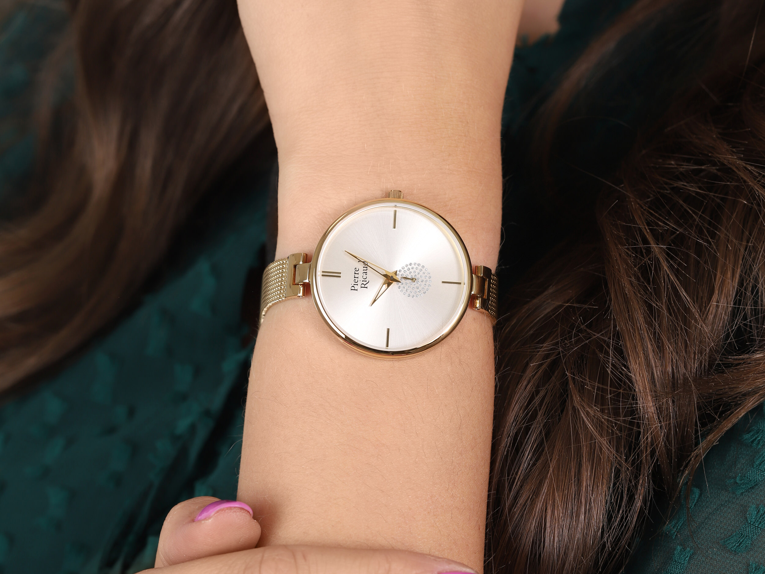 Pierre Ricaud P22108.1113Q damski zegarek Bransoleta bransoleta