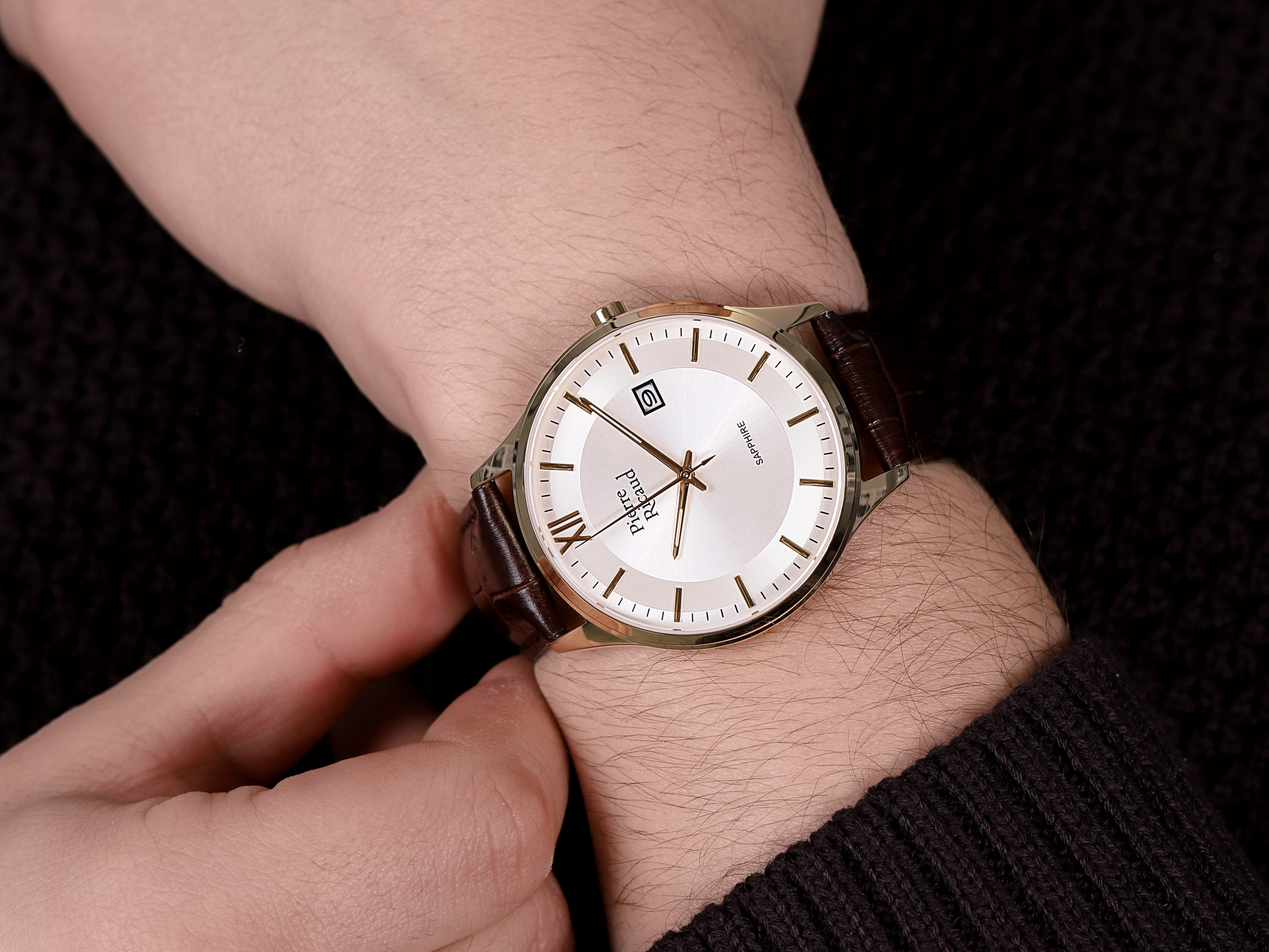 Pierre Ricaud P97262.1B63Q męski zegarek Pasek pasek