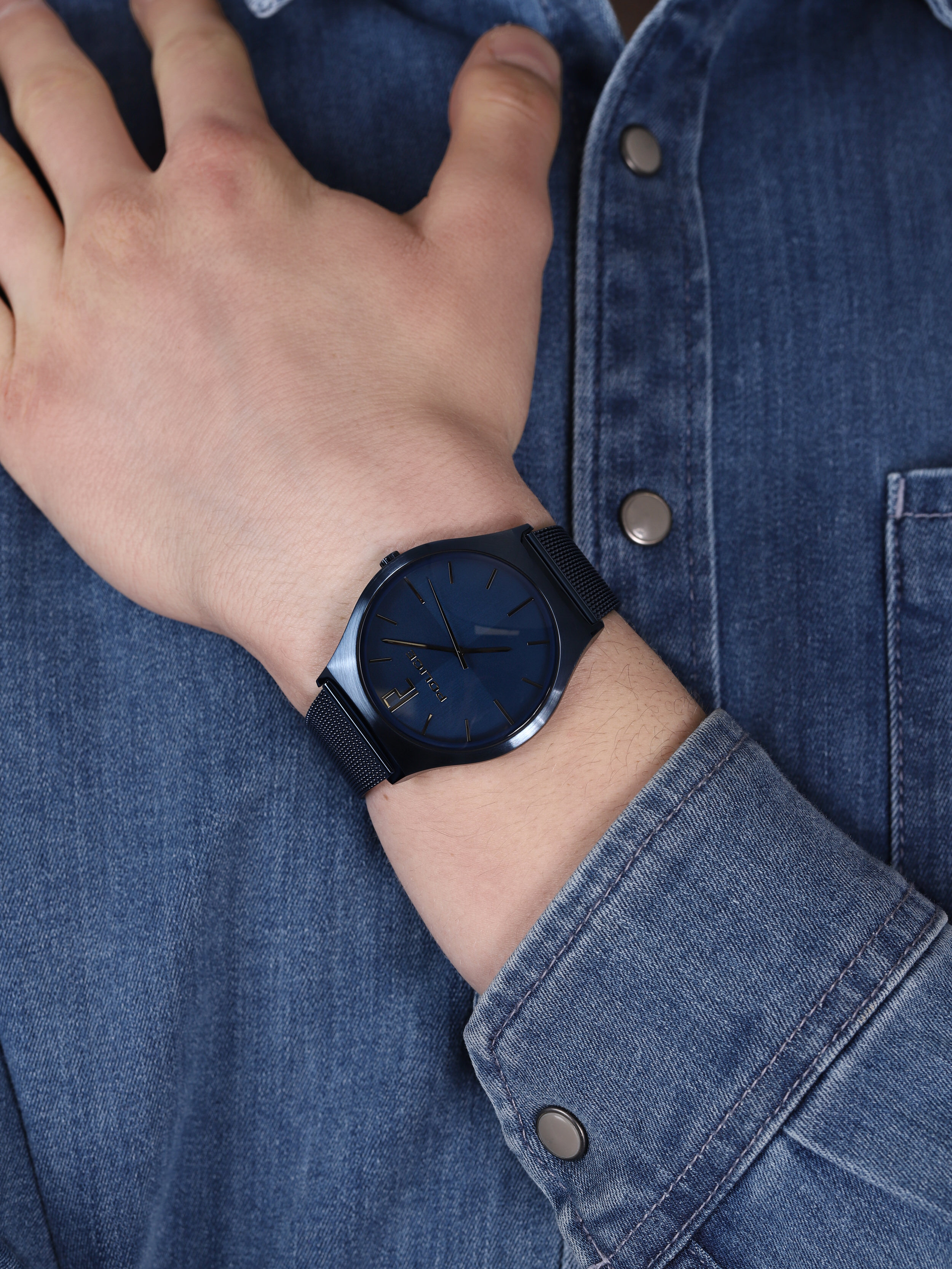 Police PL.15918JSBL-03MM ORKNEYS zegarek klasyczny Bransoleta