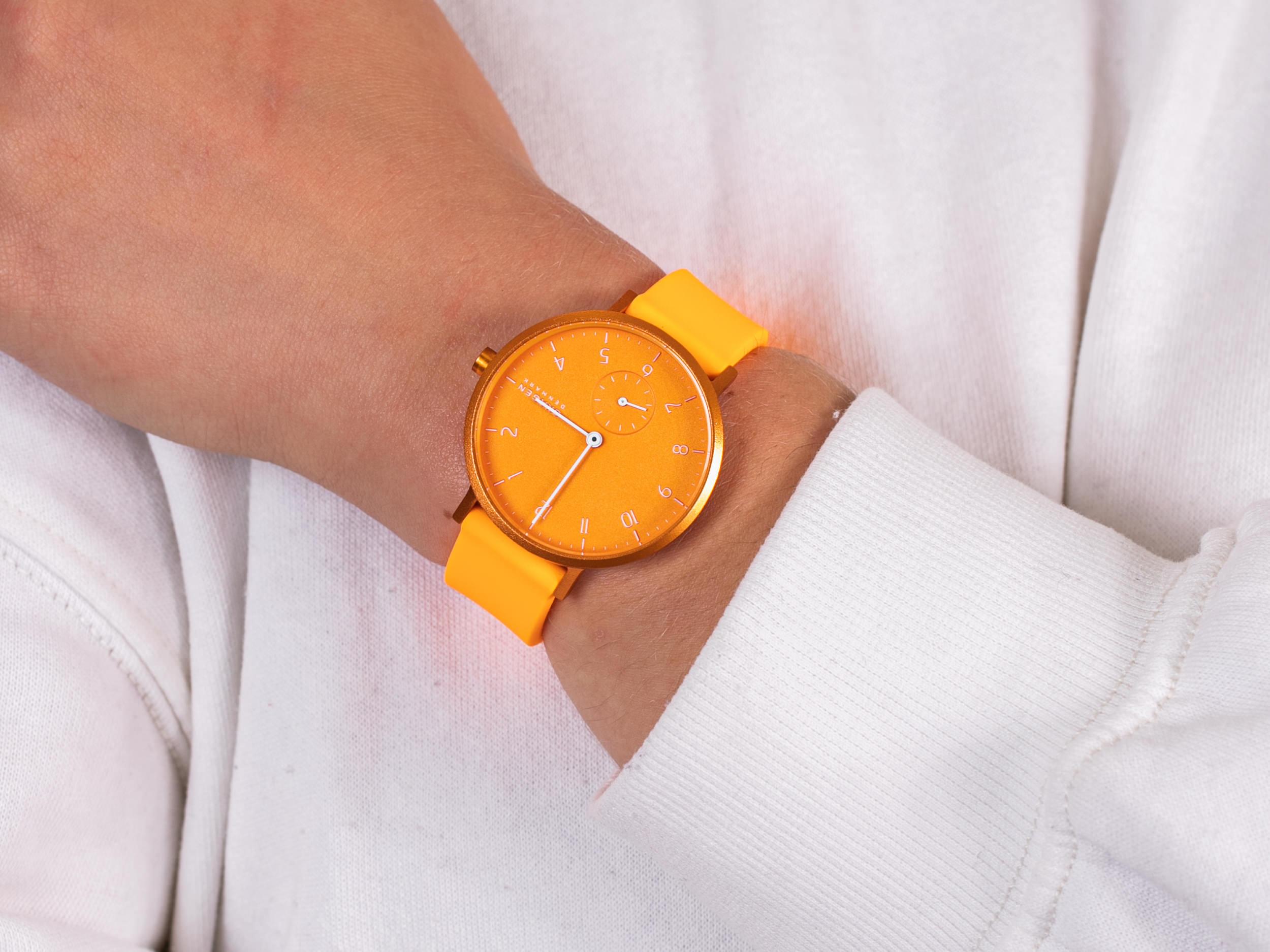 Skagen SKW2821 Aaren Kulor Neon Orange Silicone zegarek klasyczny Aaren