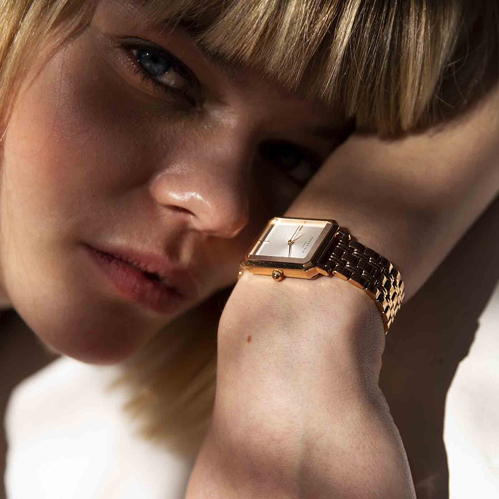 Rosefield OCWSRG-O42 zegarek srebrny klasyczny The Octagon bransoleta
