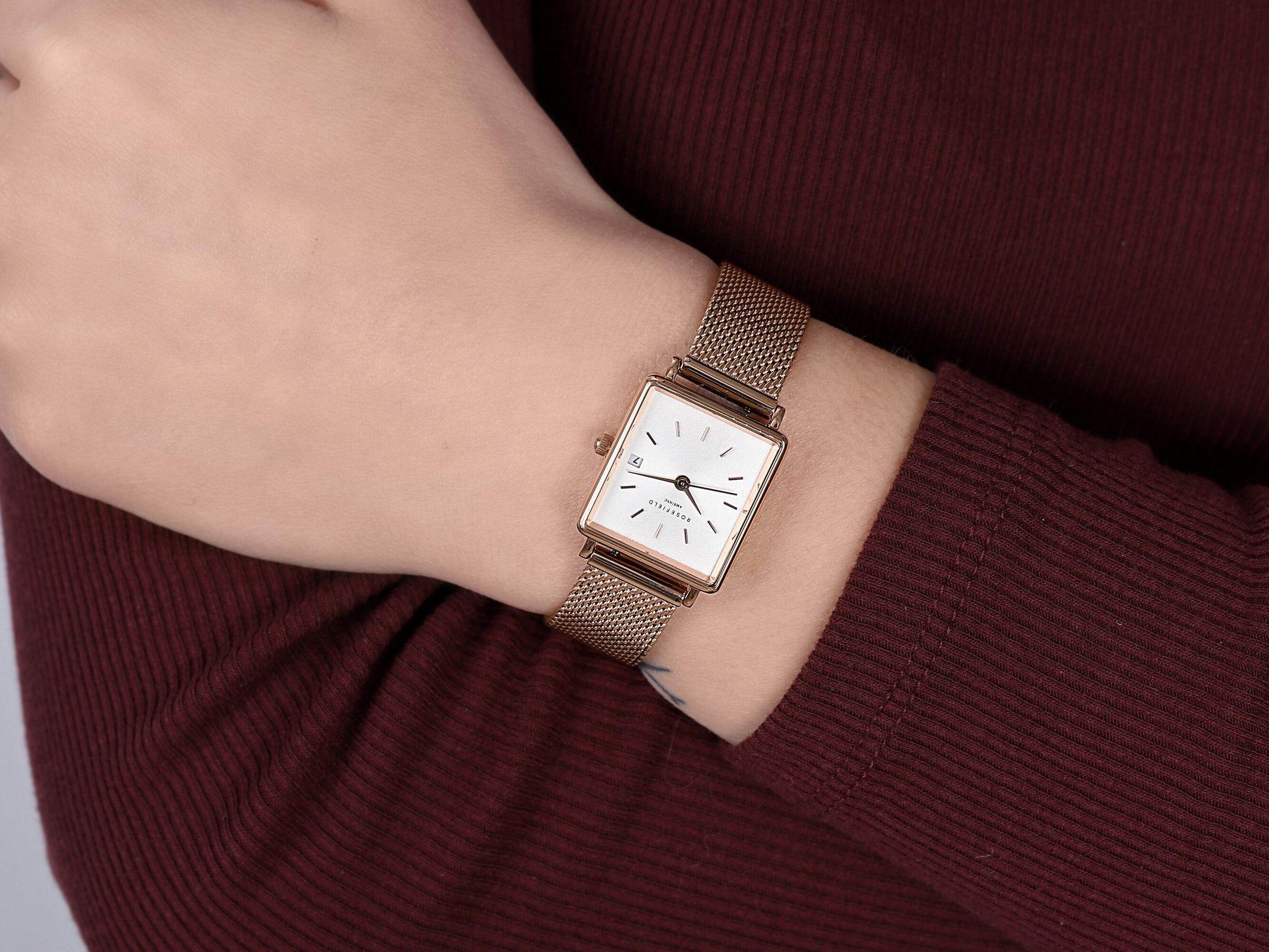 Rosefield QMWMRG-Q040 Boxy zegarek klasyczny Boxy