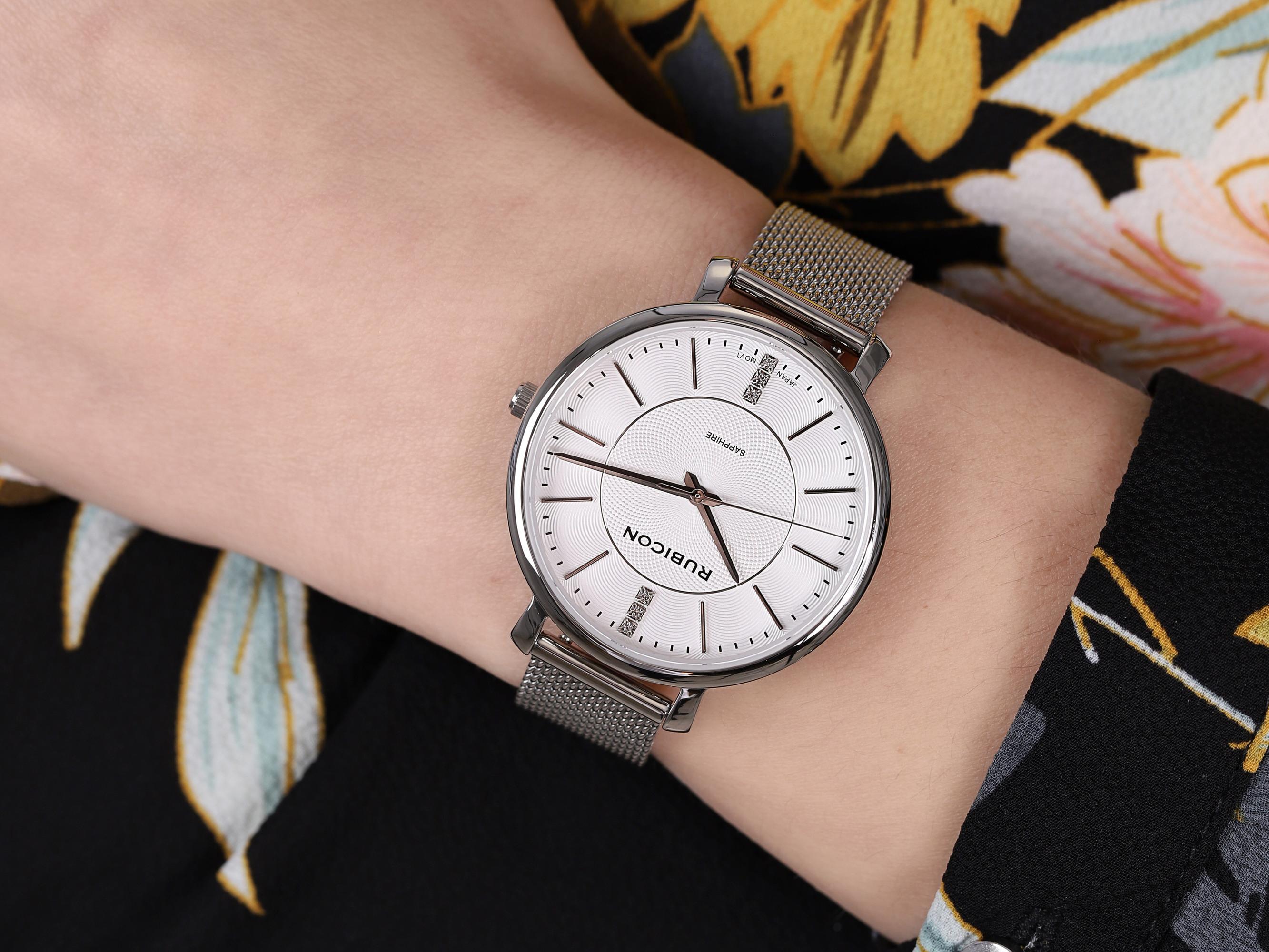 Rubicon RBN014 RNBE51SISX03BX zegarek klasyczny Bransoleta
