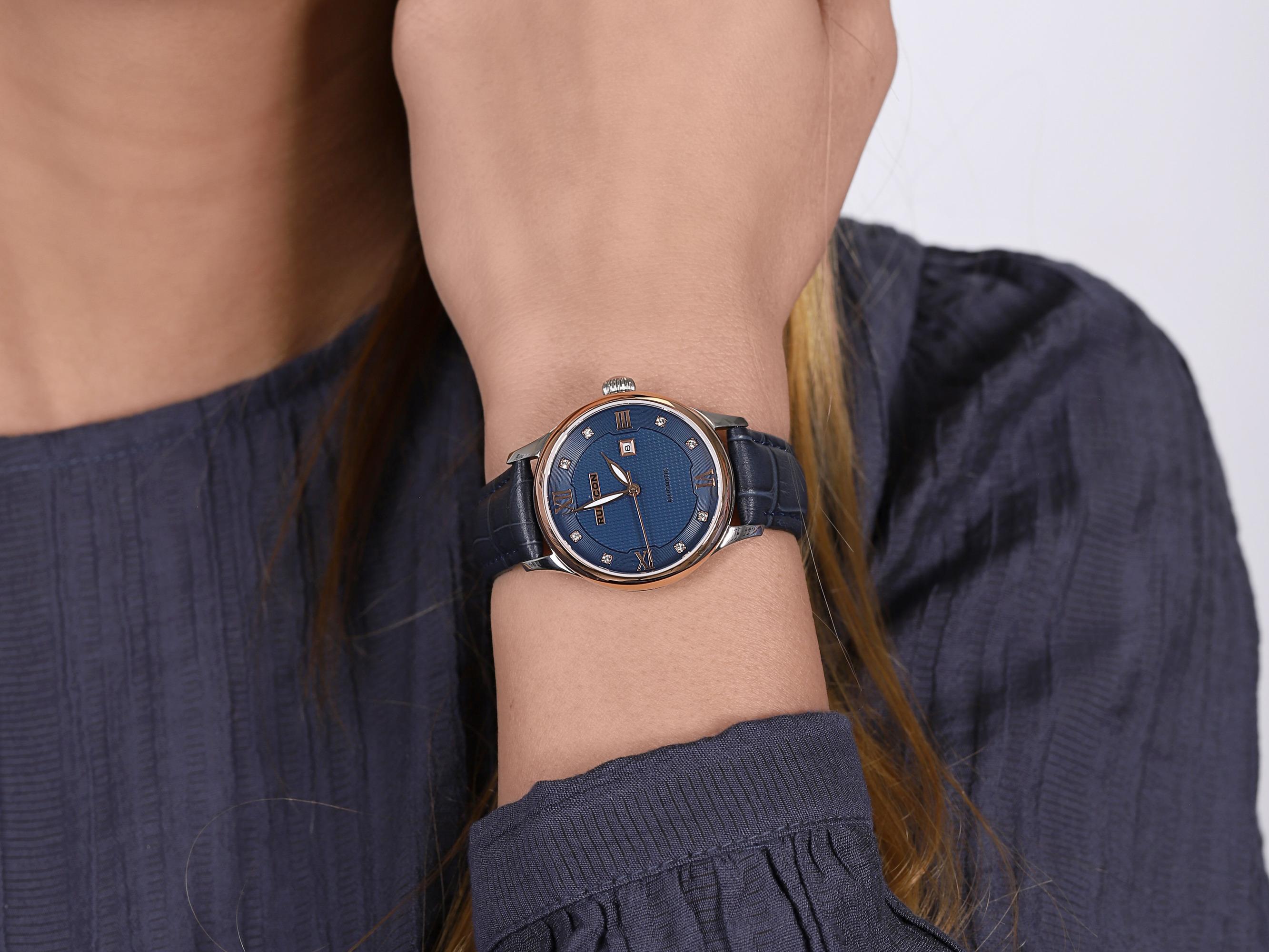 Rubicon RNAE20TWDX05BX damski zegarek Pasek pasek
