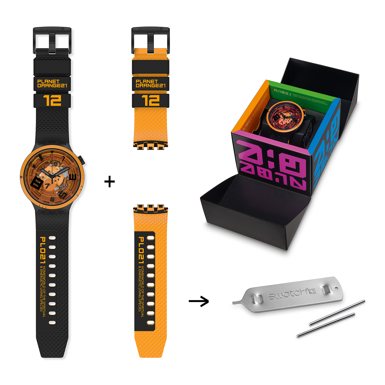 SB01B127 męski zegarek Big Bold pasek