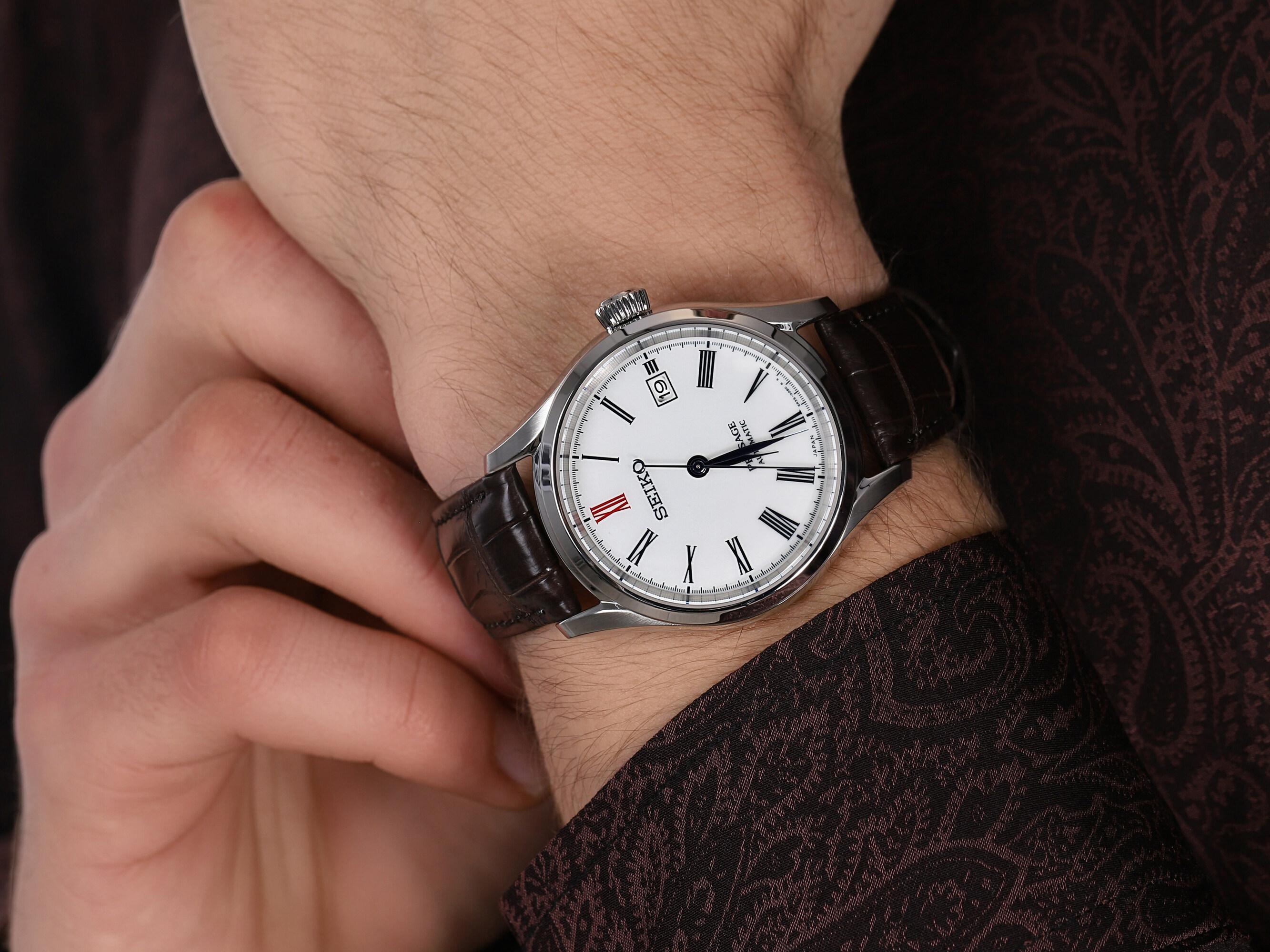 Seiko SPB095J1 męski zegarek Presage pasek