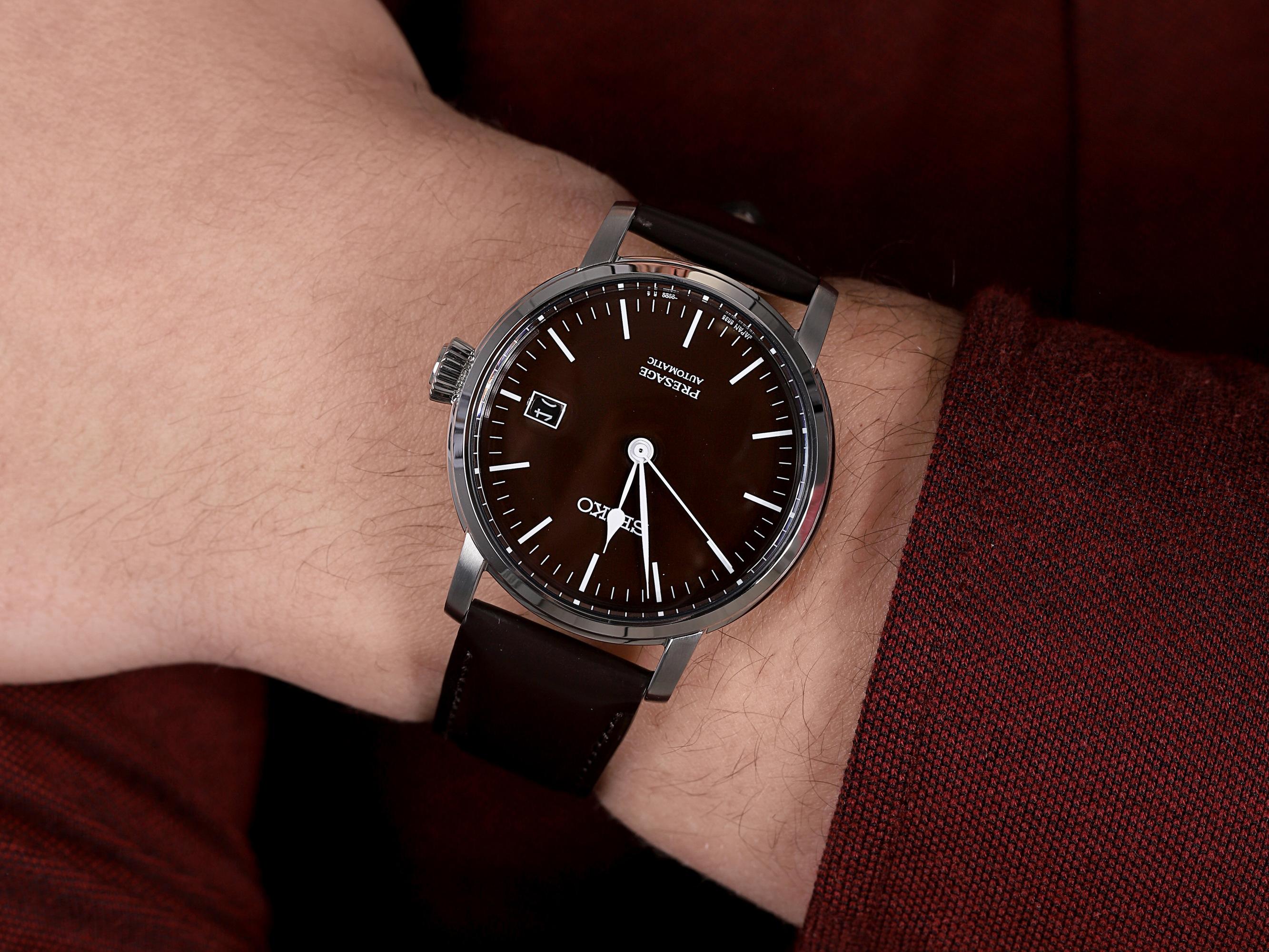 Seiko SPB115J1 męski zegarek Presage pasek